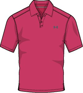 Men's UA CoolSwitch Microthread Polo, Hollywood,