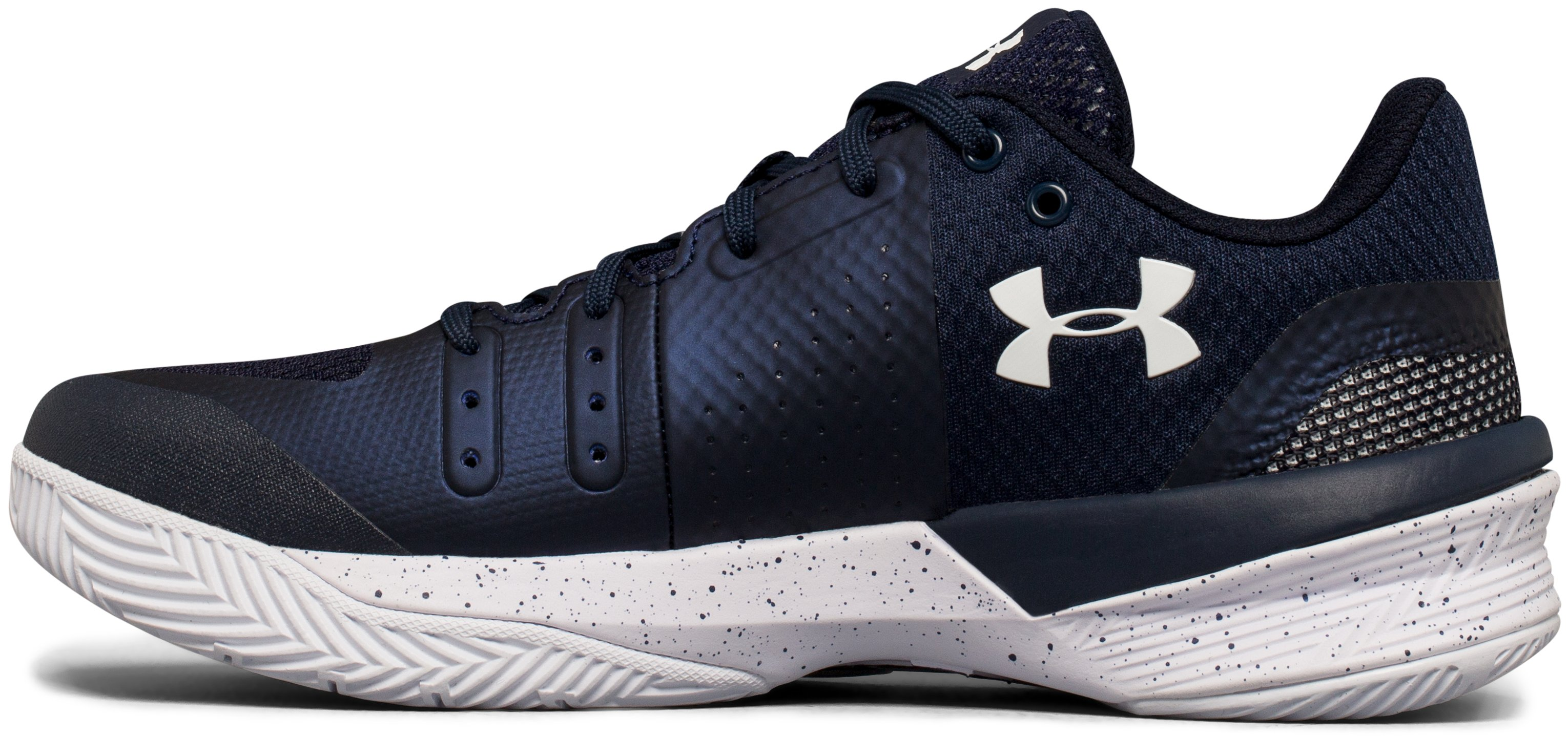 Women's UA Block City Volleyball Shoes, Midnight Navy,