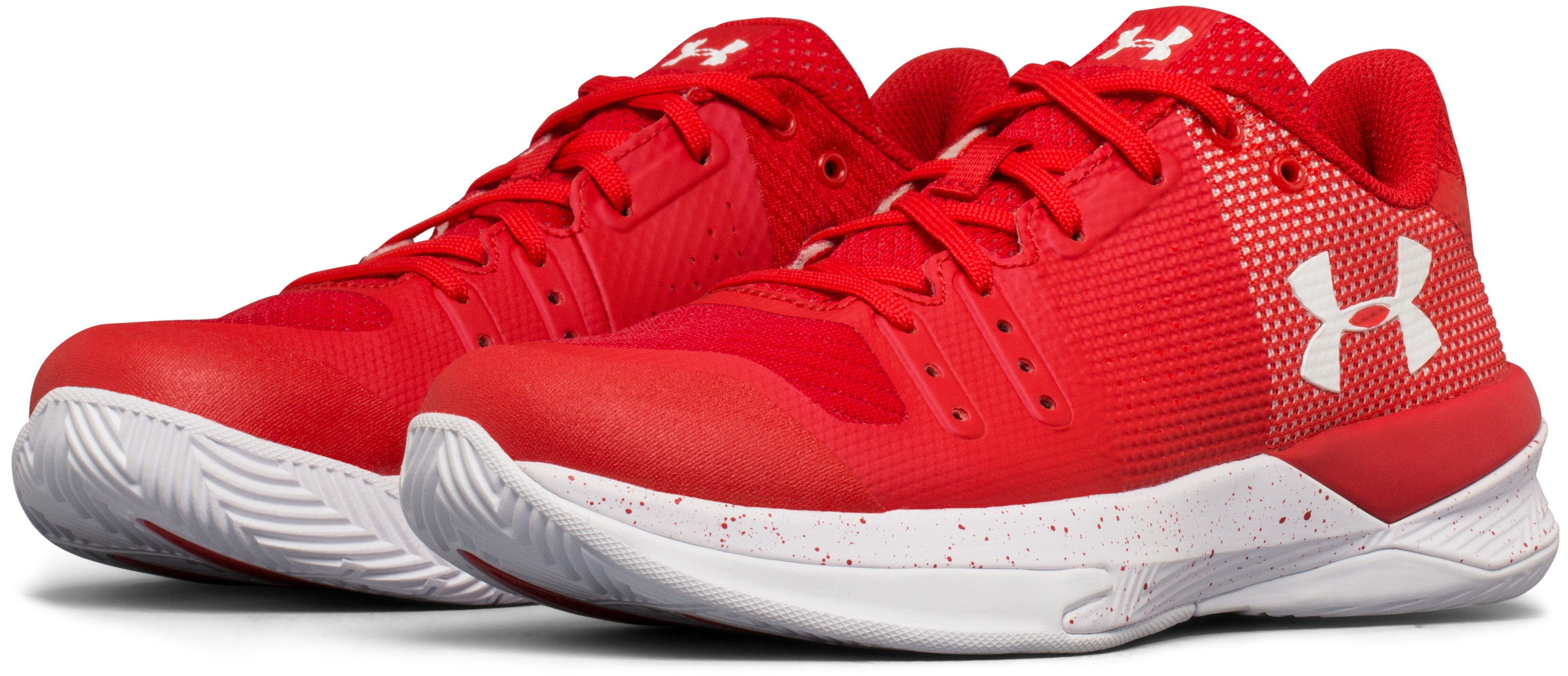 Women's UA Block City Volleyball Shoes, Red, undefined