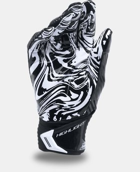Men's UA Highlight Pro Football Gloves  1 Color $54.99