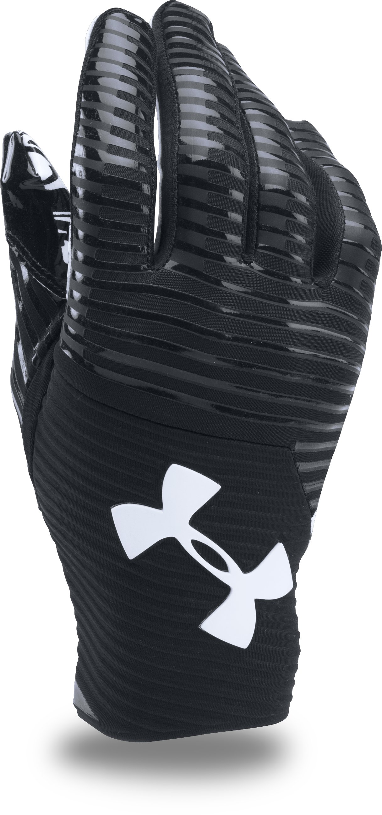 Men's UA Highlight Pro Football Gloves, Black , undefined