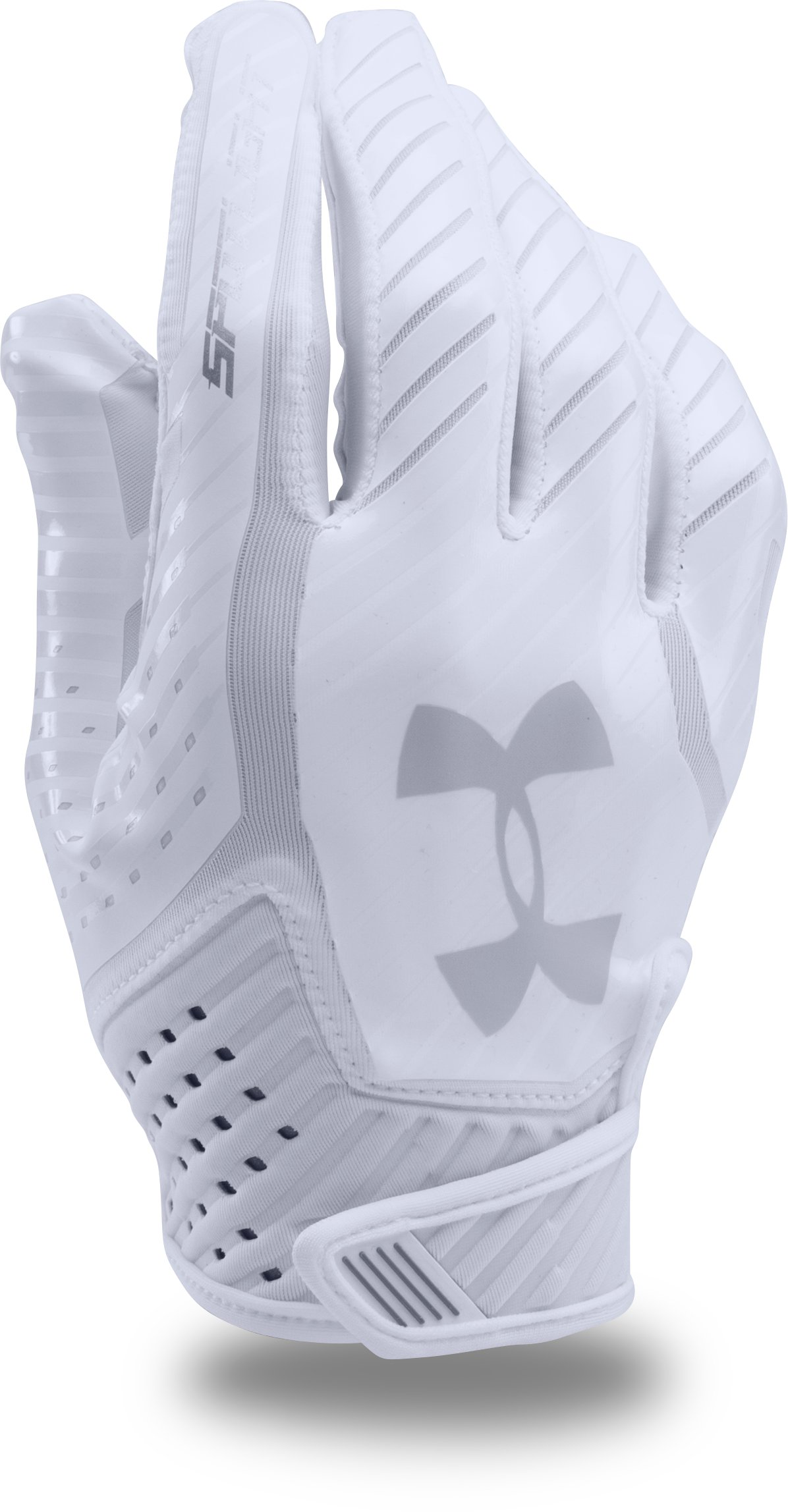 Men's UA Spotlight Football Gloves, White,