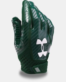 Men's UA Spotlight Football Gloves  1  Color Available $26.99 to $33.99