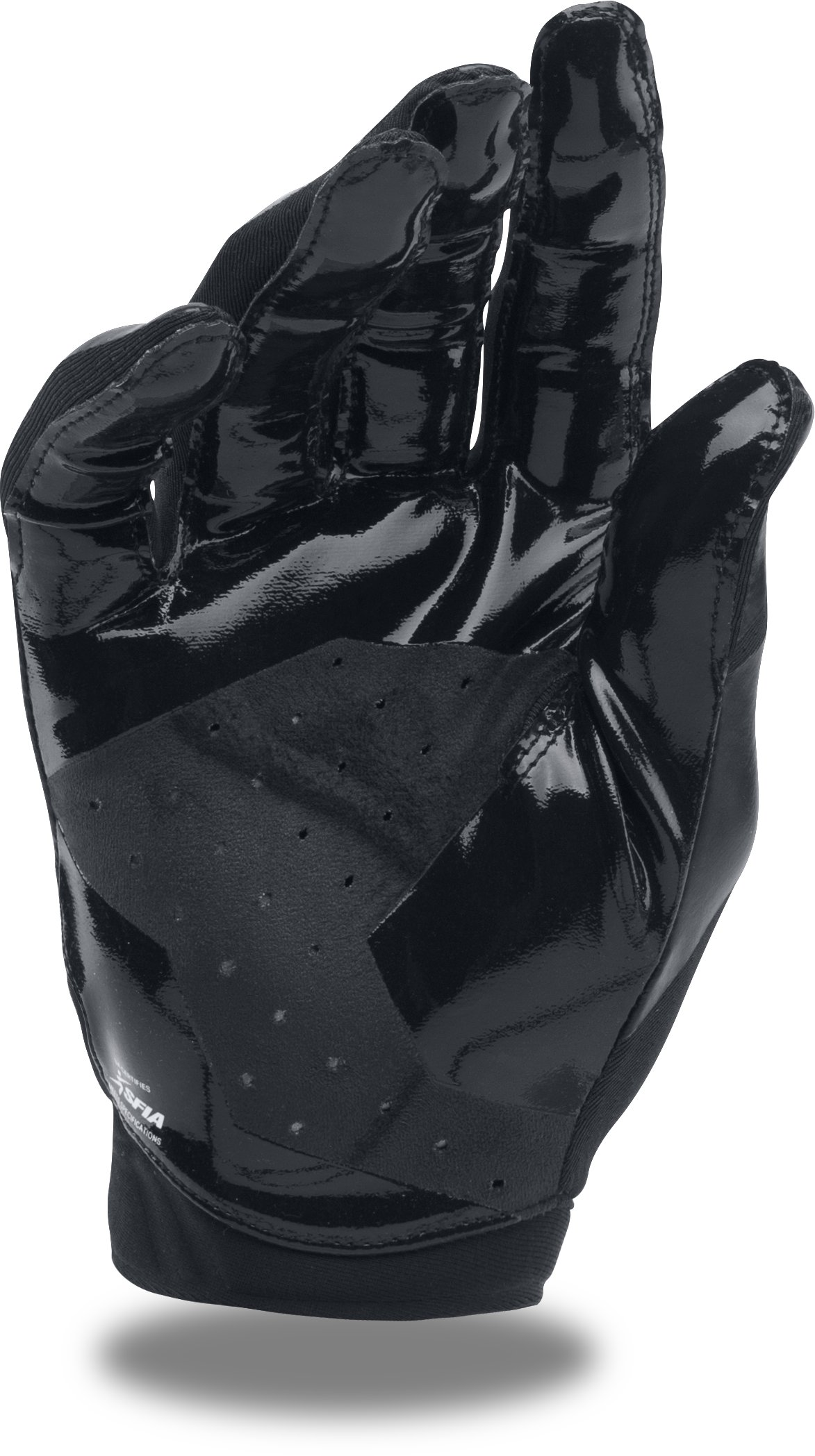 Men's UA Sizzle Football Gloves, Black ,