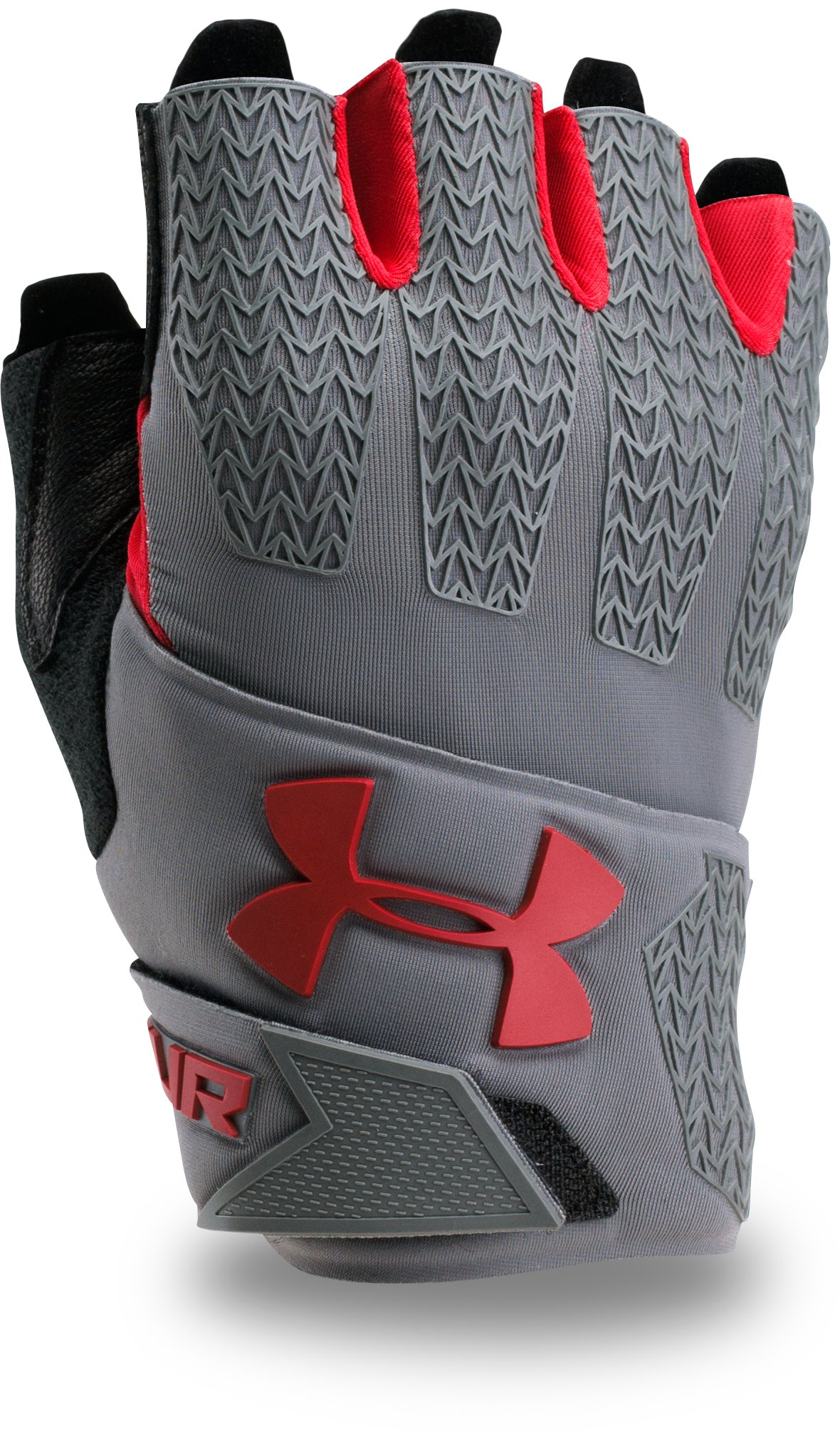 graphite gloves Men's UA ClutchFit® Resistor Training Gloves Sturdy, comfortable....These gloves look nice and fit nice and snug....grips well and gives alot of comfort.