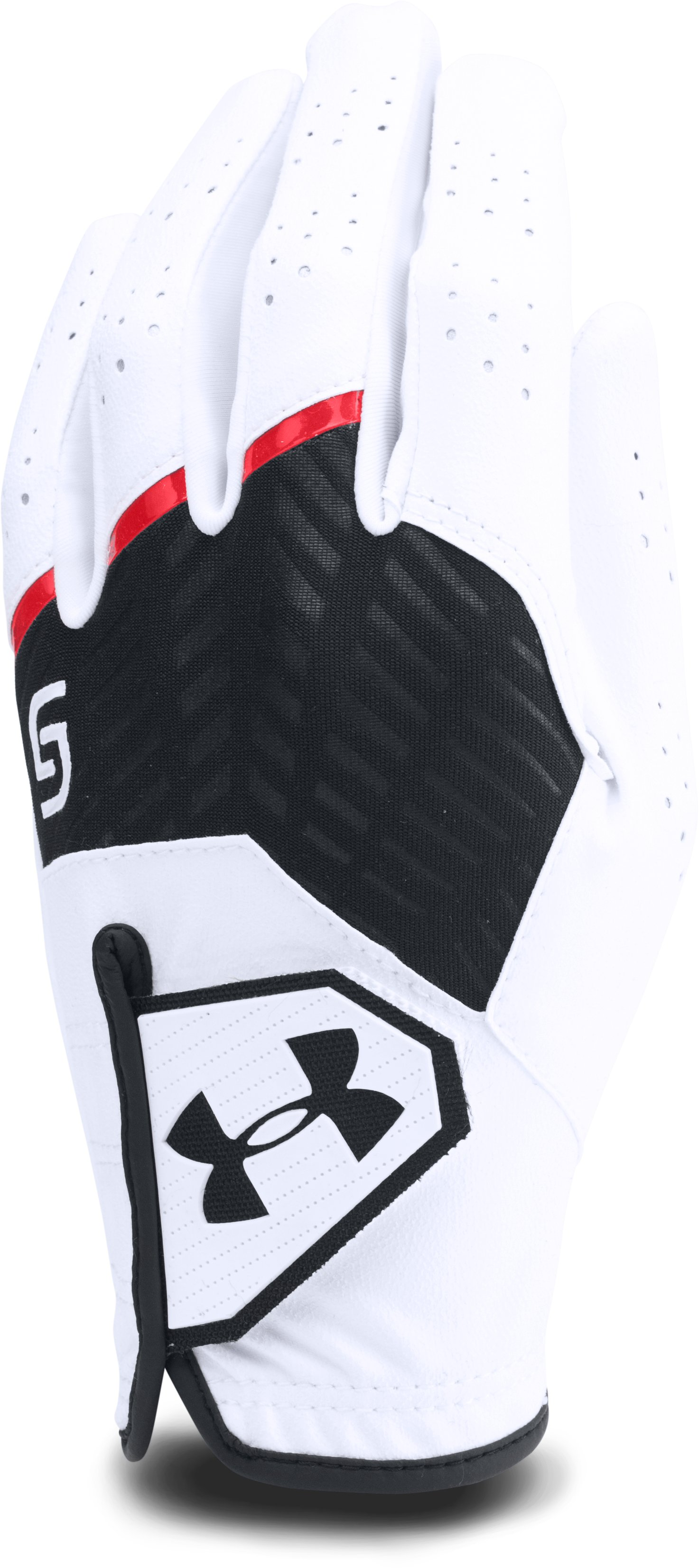 Boys' UA CoolSwitch Golf Glove — Spieth Jr. Edition, White,