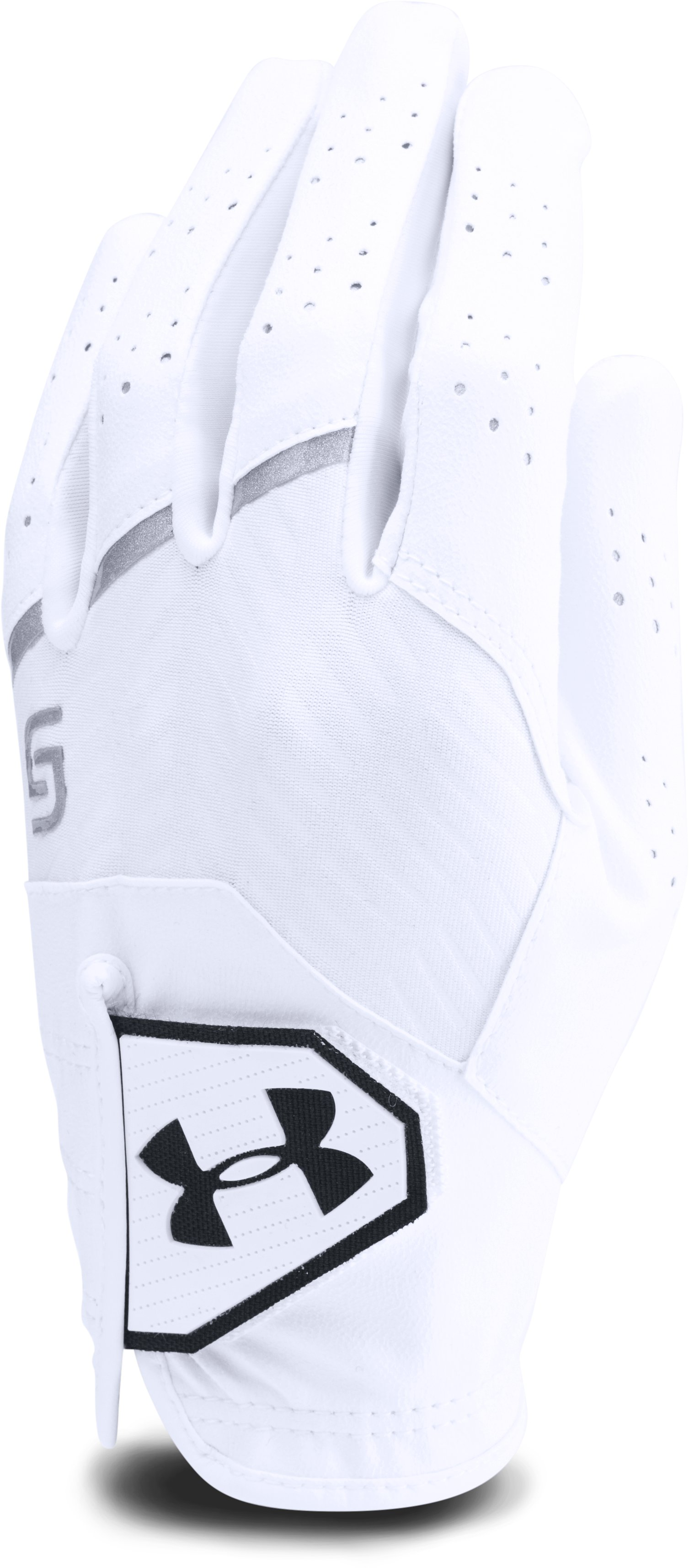 Boys' UA CoolSwitch Golf Glove – Spieth Jr. Edition, White, zoomed image