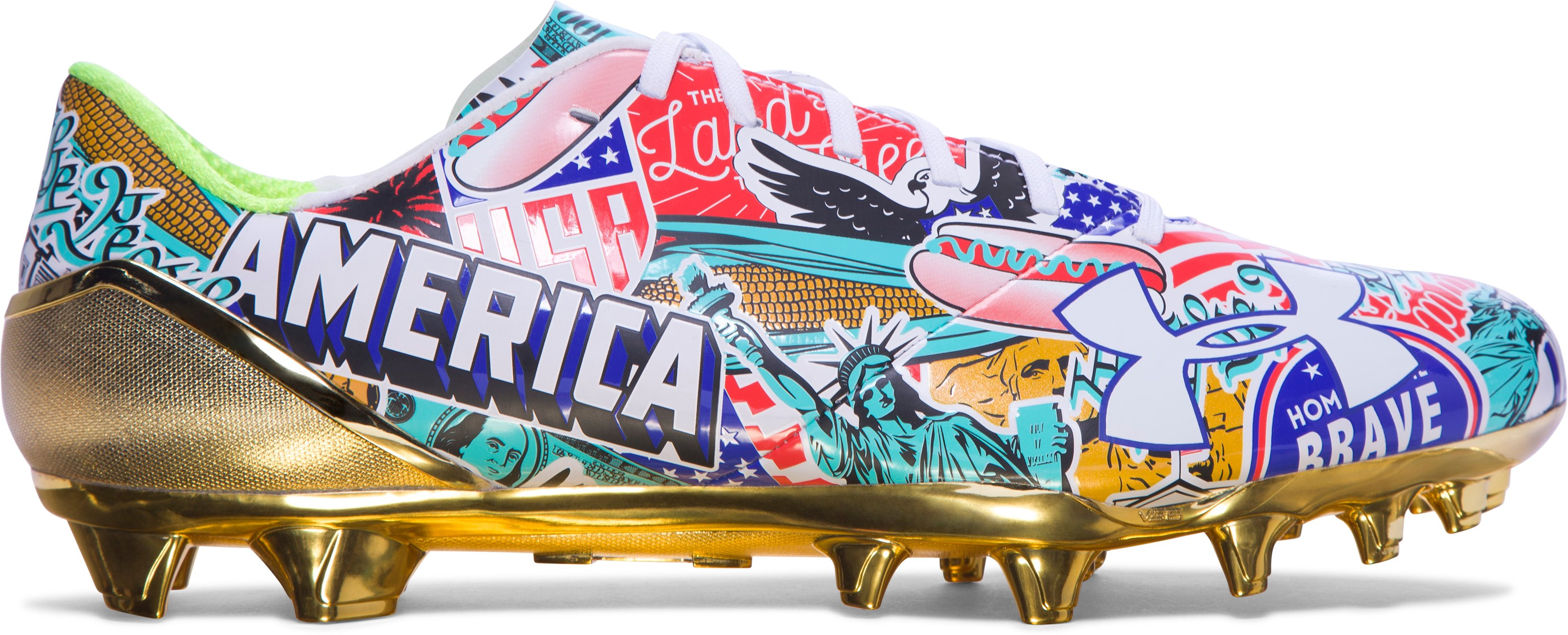 Men's UA Spotlight — Limited Edition Football Cleats, AMERICA, undefined
