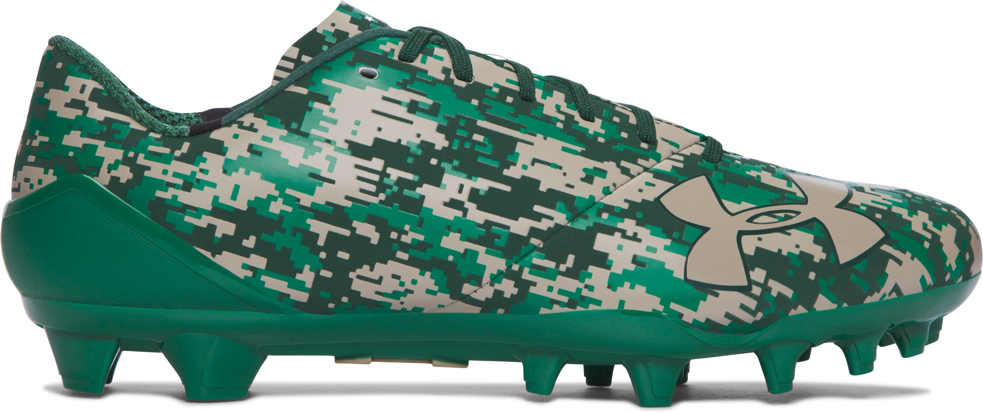 Men's UA Spotlight – Limited Edition Football Cleats, Forest Green, zoomed image