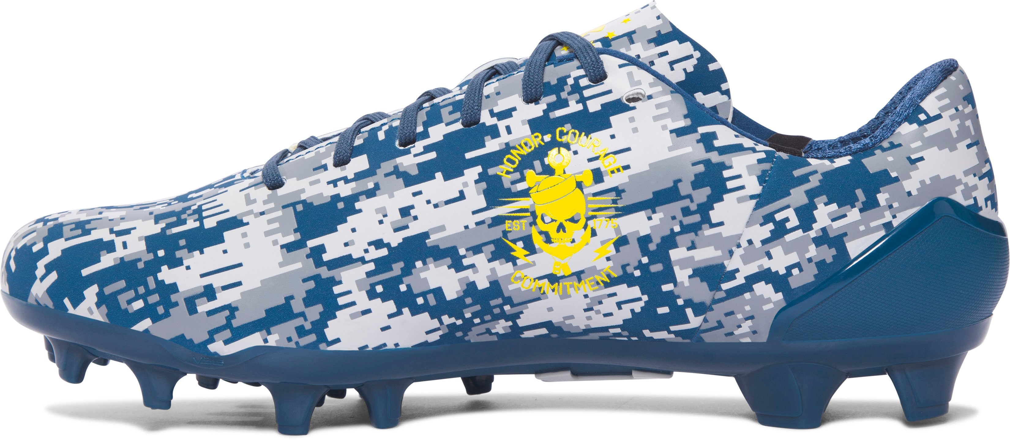 Men's UA Spotlight — Limited Edition Football Cleats, PETROL BLUE,