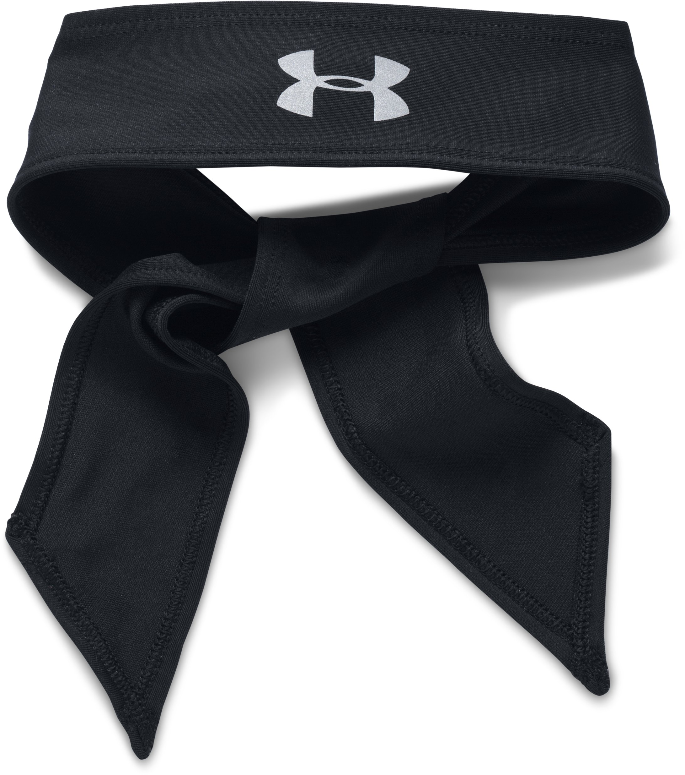Women's UA Armour Tie Headband, Black ,