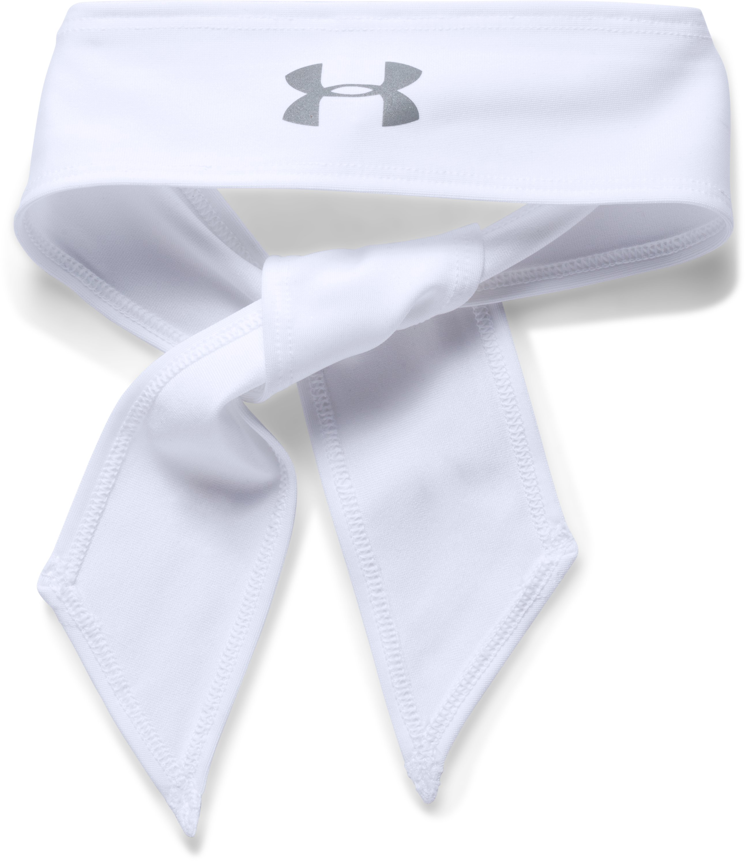 Women's UA Armour Tie Headband, White,