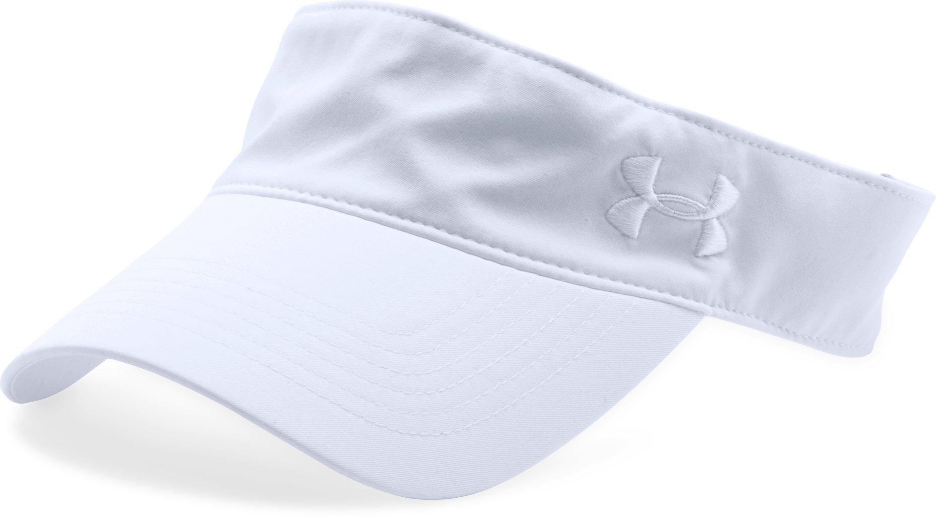 Women's UA Links Visor, White,