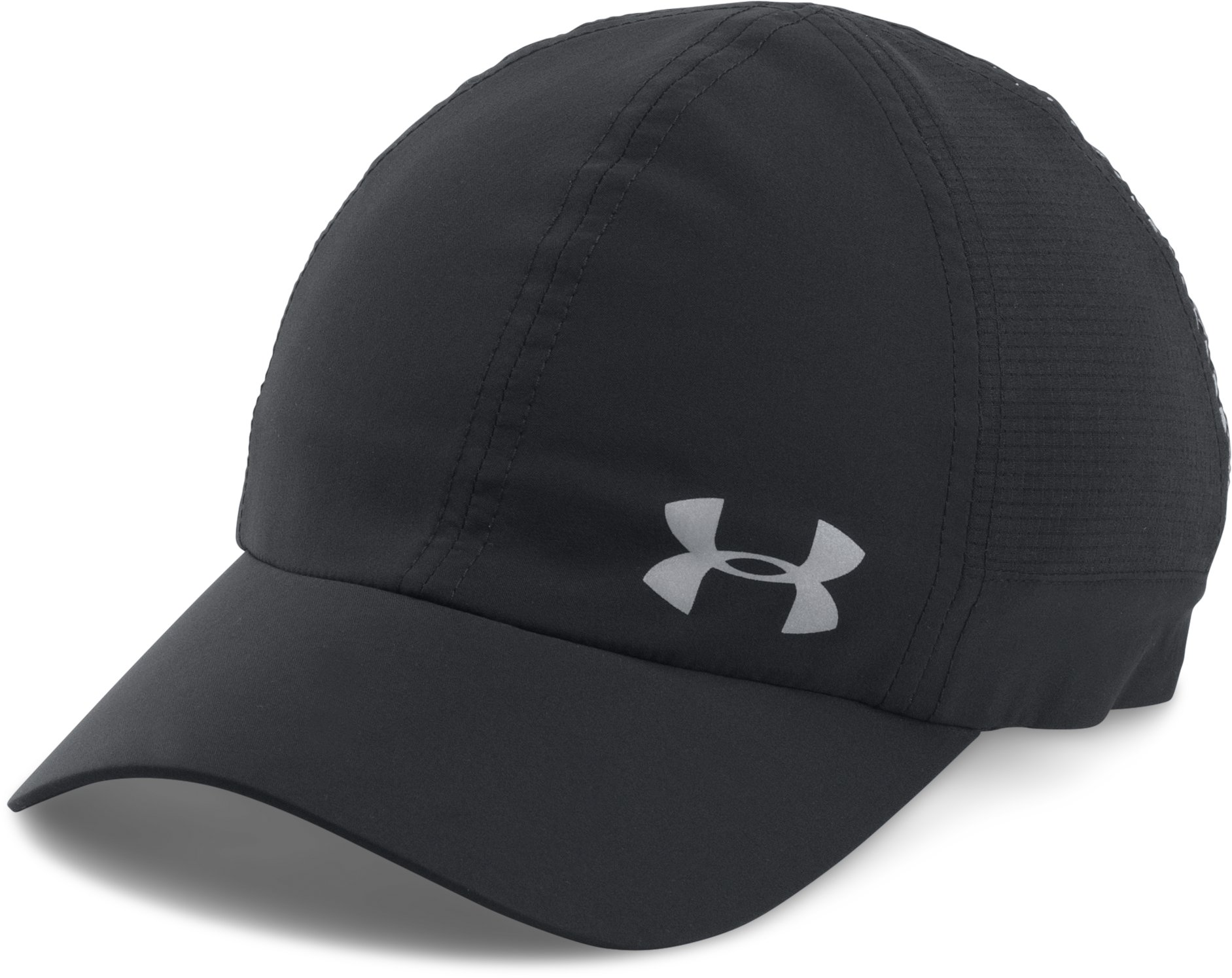 Women's UA Fly-By ArmourVent™ Cap, Black , undefined