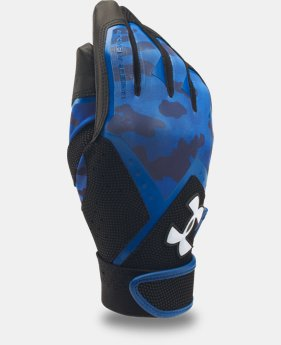 Boys' UA Clean Up Graphic Print Batting Gloves  1  Color Available $13.99