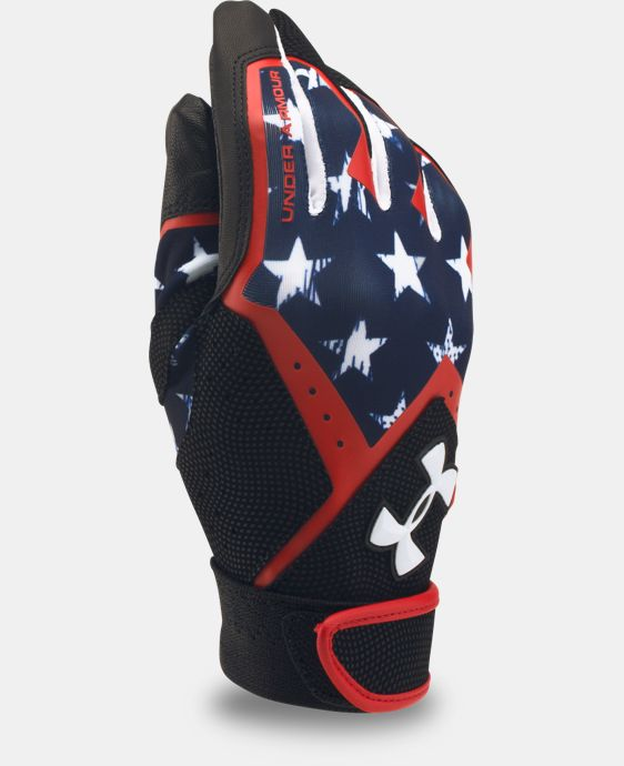 New Arrival Boys' UA Clean Up Graphic Print Batting Gloves   $24.99