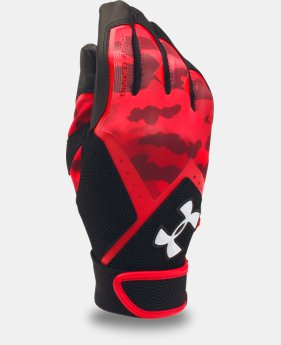 Boys' UA Clean Up Graphic Print Batting Gloves  2 Colors $13.99