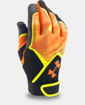 New Arrival  Boys' UA Clean Up Graphic Print Batting Gloves   $29.99