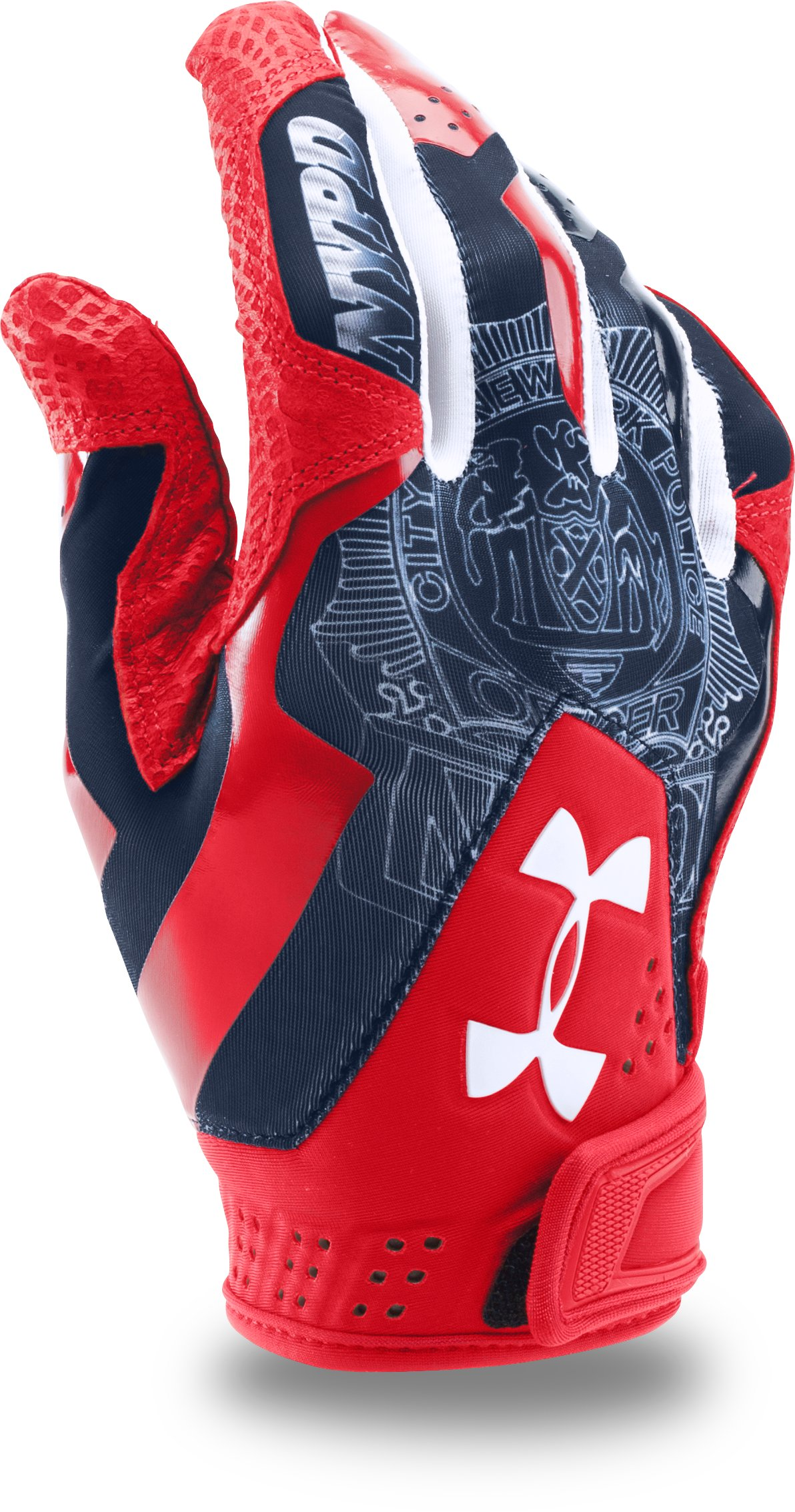 Men's UA Yard Undeniable Batting Gloves – Limited Edition, Red, zoomed image