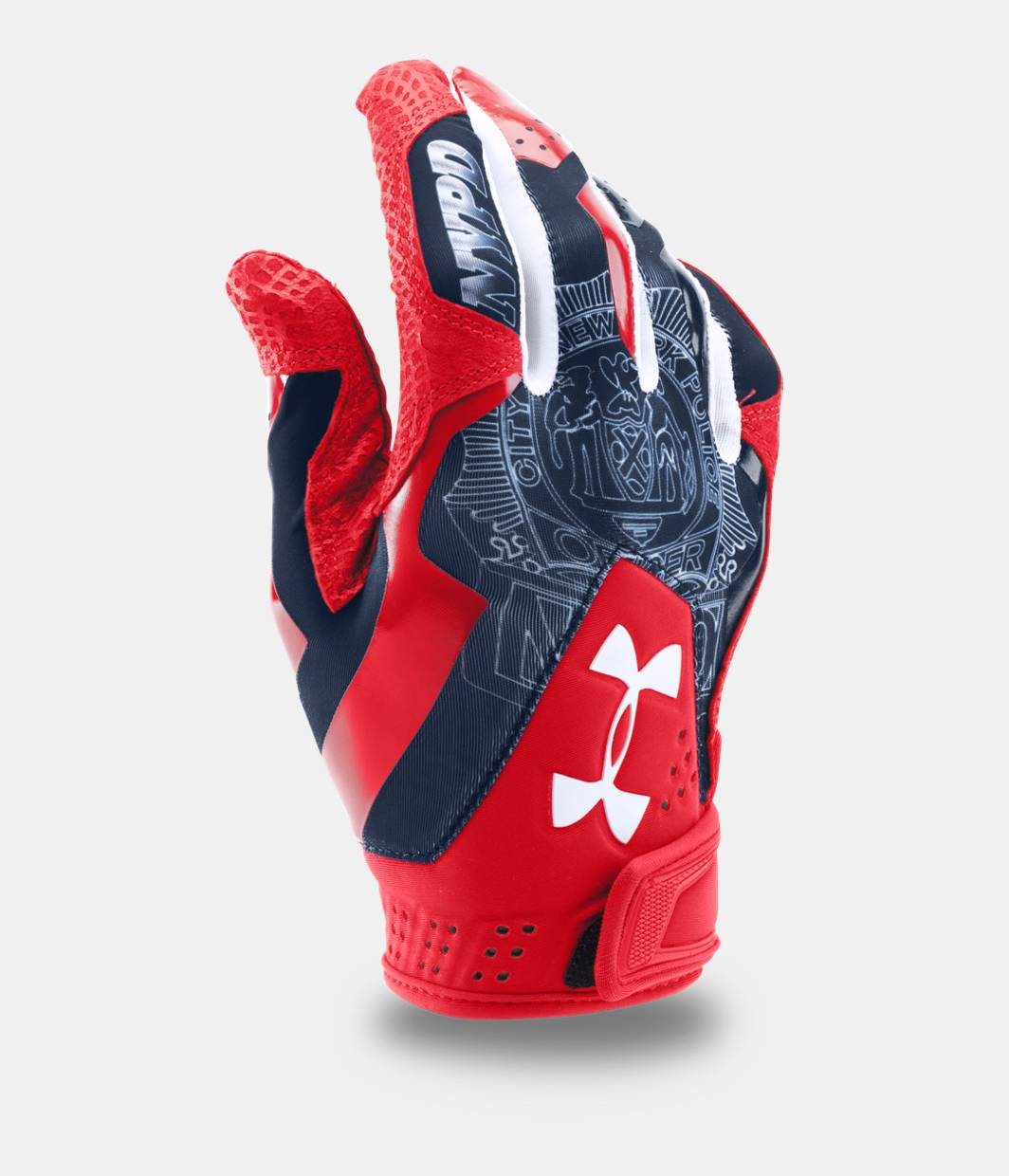 Under armour leather work gloves - Men S Ua Yard Undeniable Batting Gloves Limited Edition Red Zoomed Image
