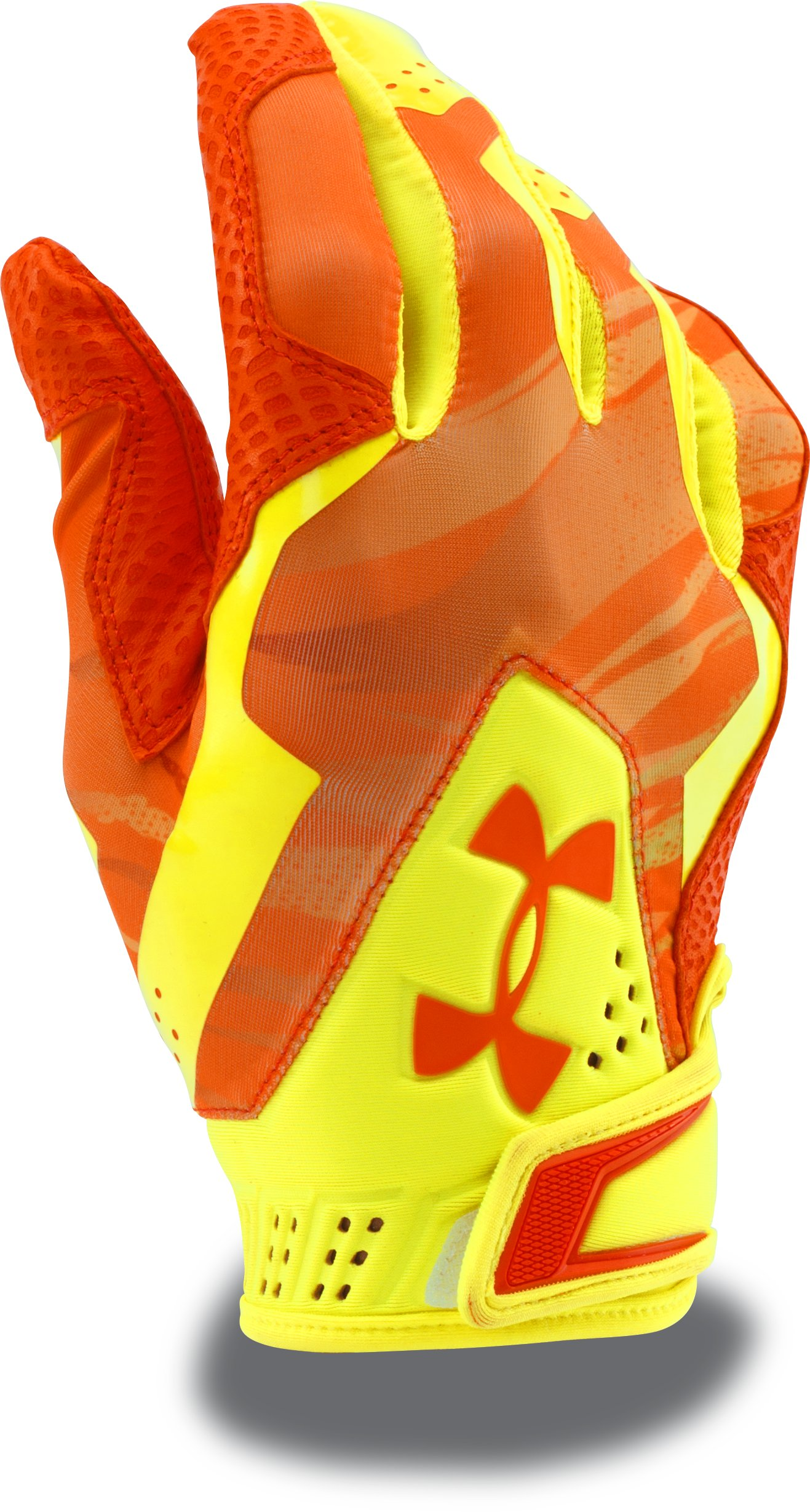 Men's UA Yard Undeniable Batting Gloves — Mother's Day Edition, High-Vis Yellow