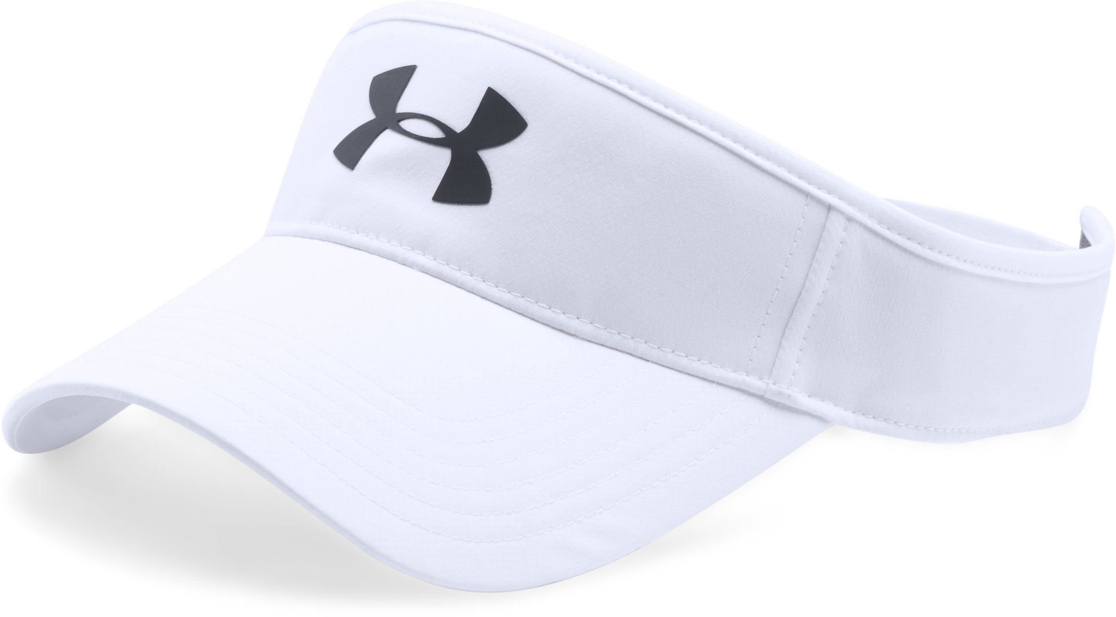 Men's UA Headline Golf Visor, White, undefined