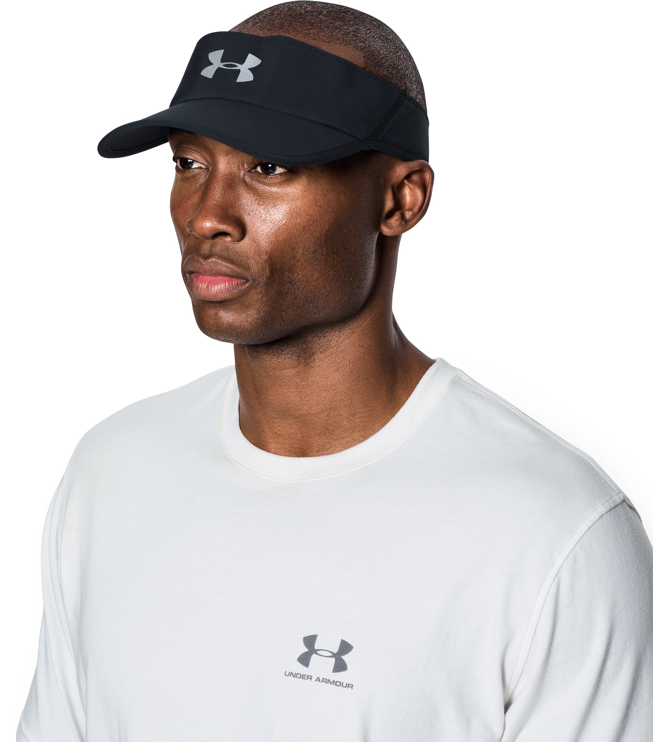 Men's UA Shadow 4.0 Run Visor, Black , undefined