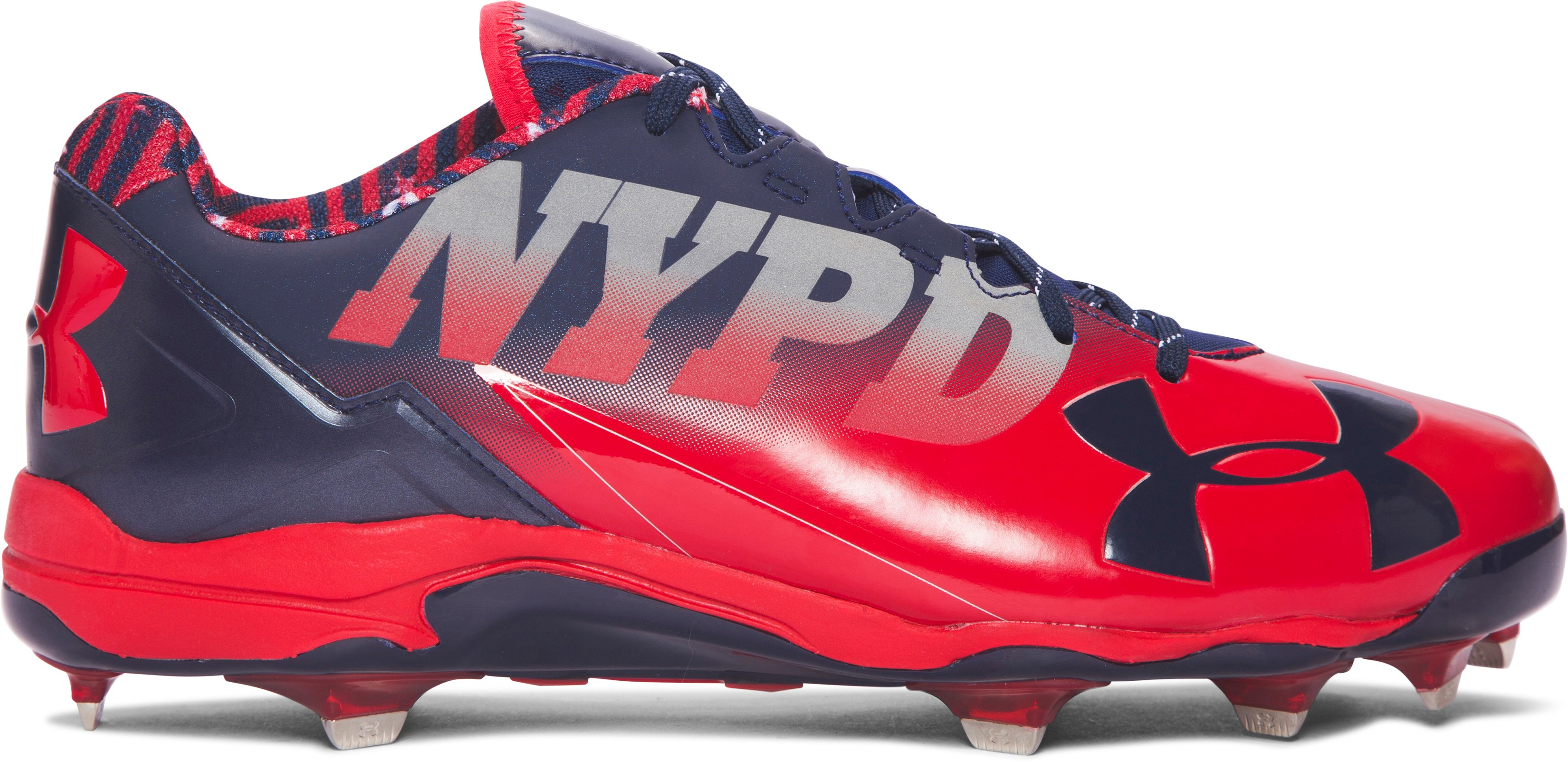 Men's UA Deception Low DT Baseball Cleats — Freedom Edition, Red