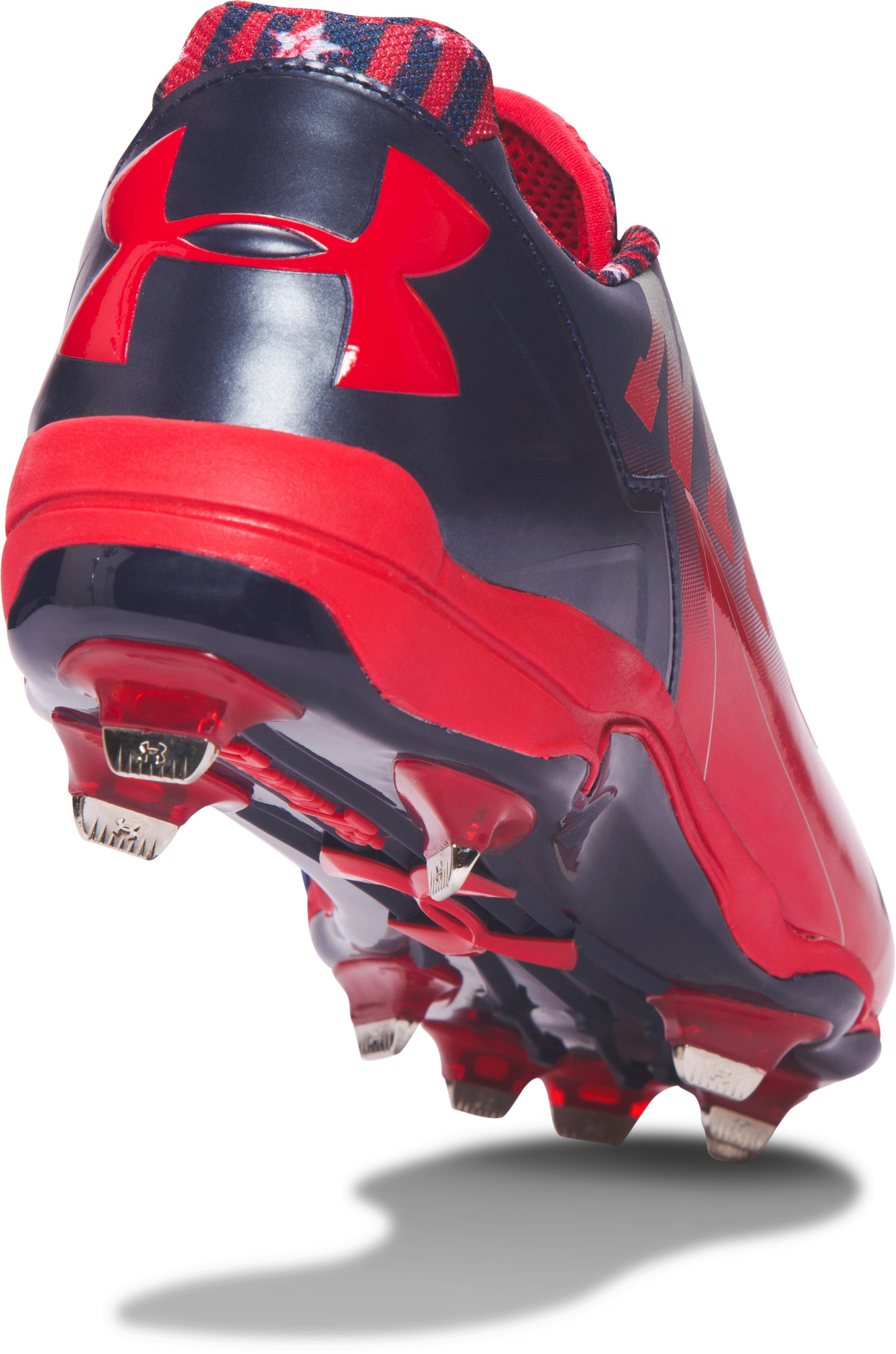 Men's UA Deception Low DT Baseball Cleats — Freedom Edition, Red, undefined