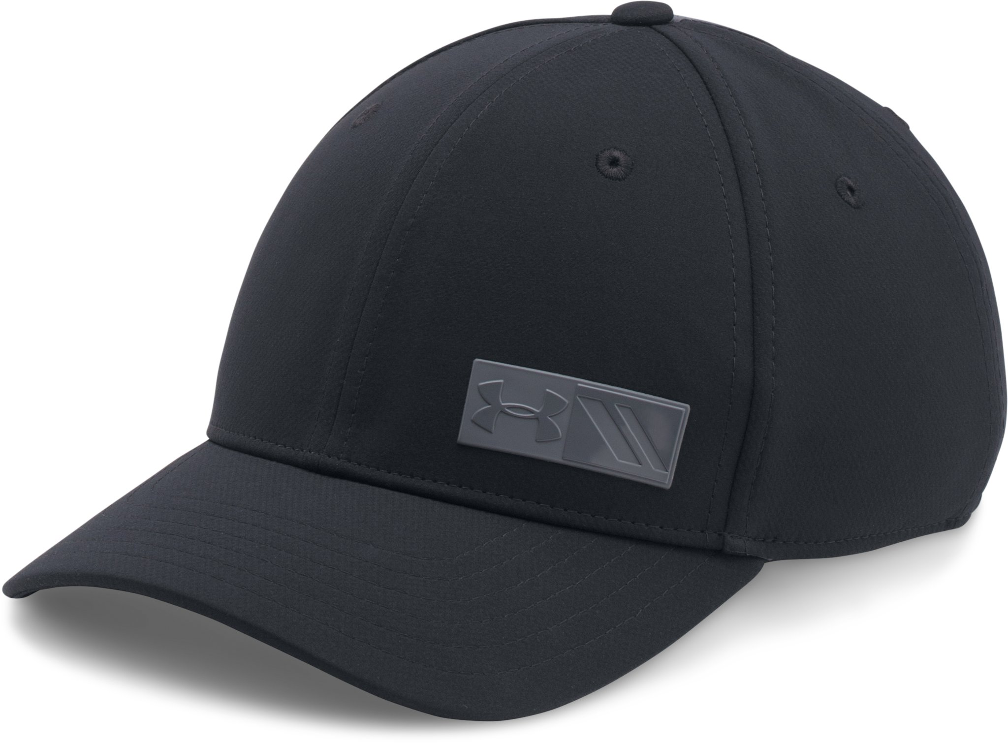 Boys' UA Storm Golf Cap, Black , zoomed image