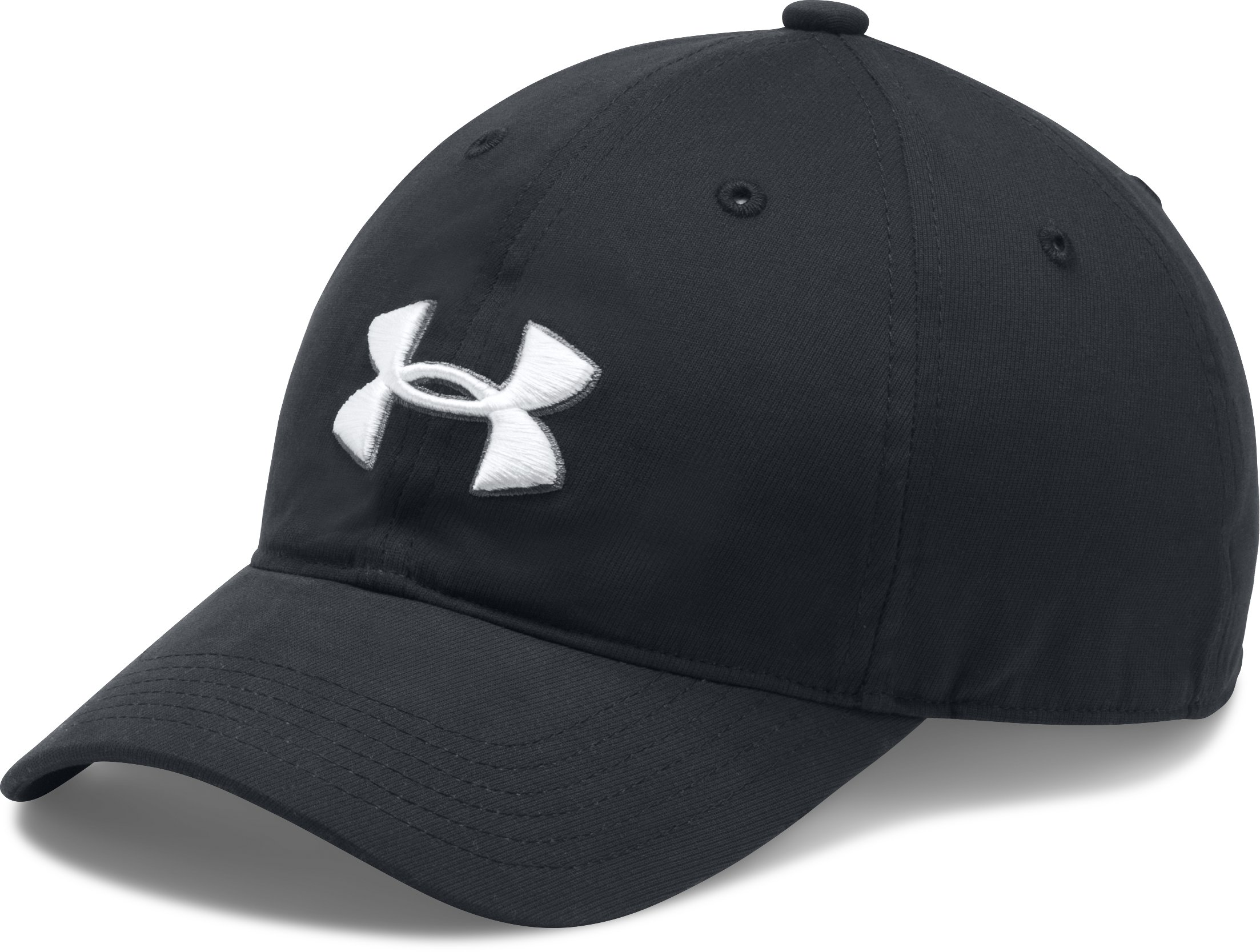 Boys' UA Chino Golf Cap, Black , zoomed image