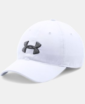 New to Outlet Boys' UA Chino Golf Cap  2  Colors Available $11.99