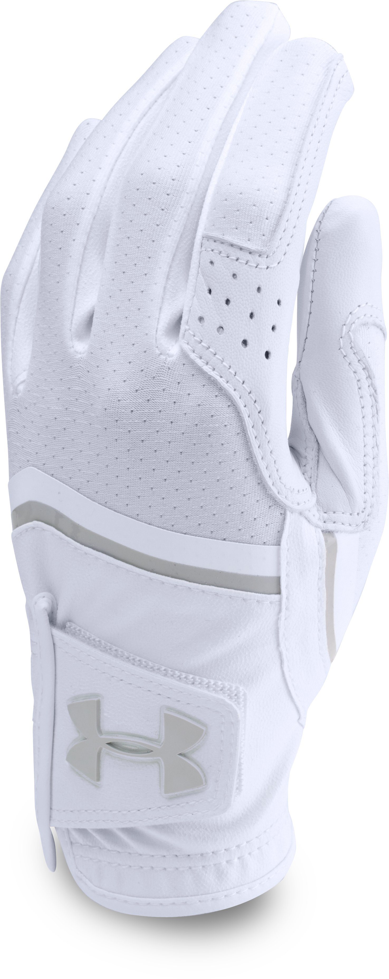 Women's UA CoolSwitch Golf Glove, White, undefined