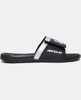 Men's UA Playmaker VI Adjustable Slides  2 Colors $44.35