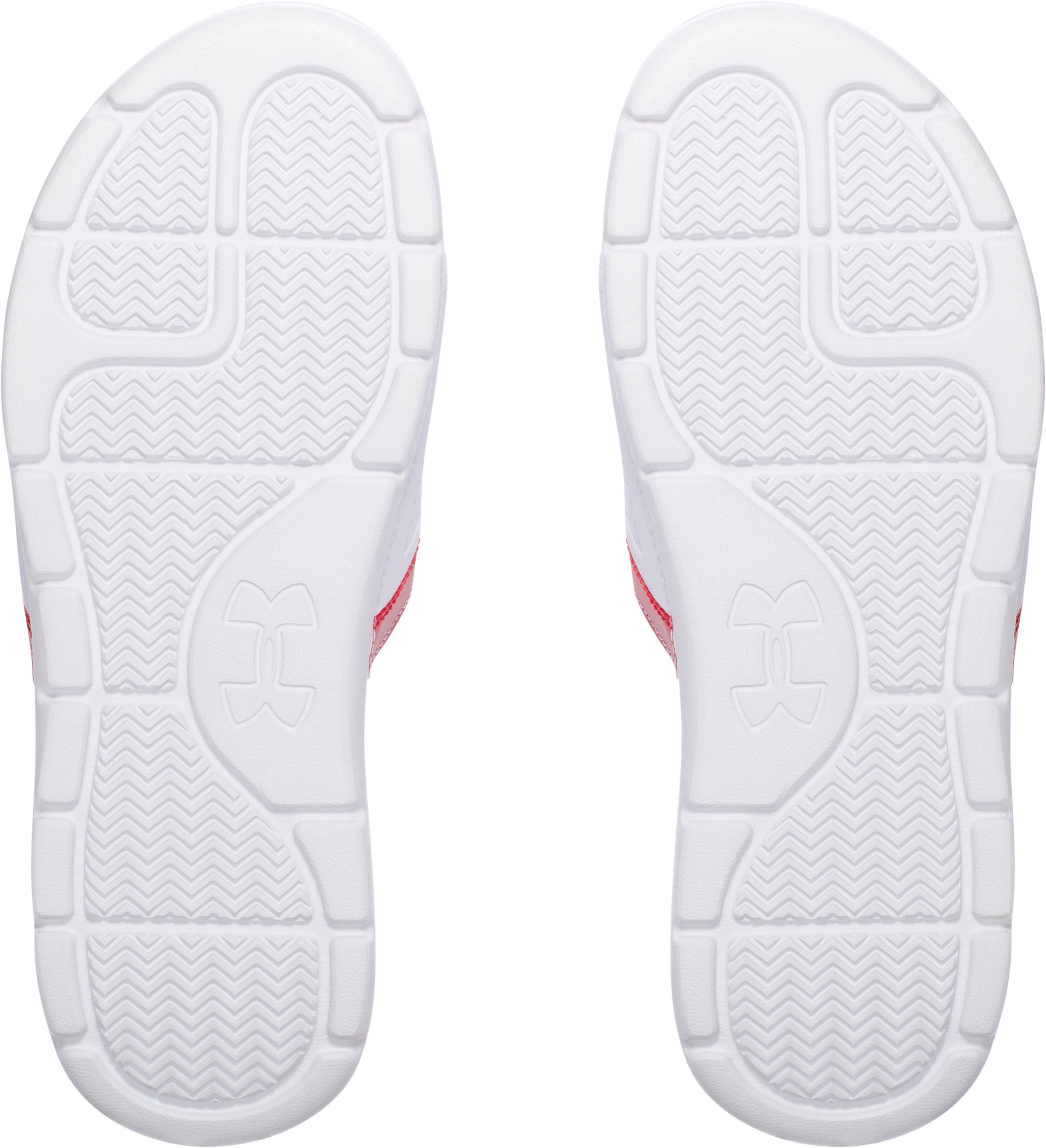 Men's UA Playmaker VI Adjustable Slides, White,