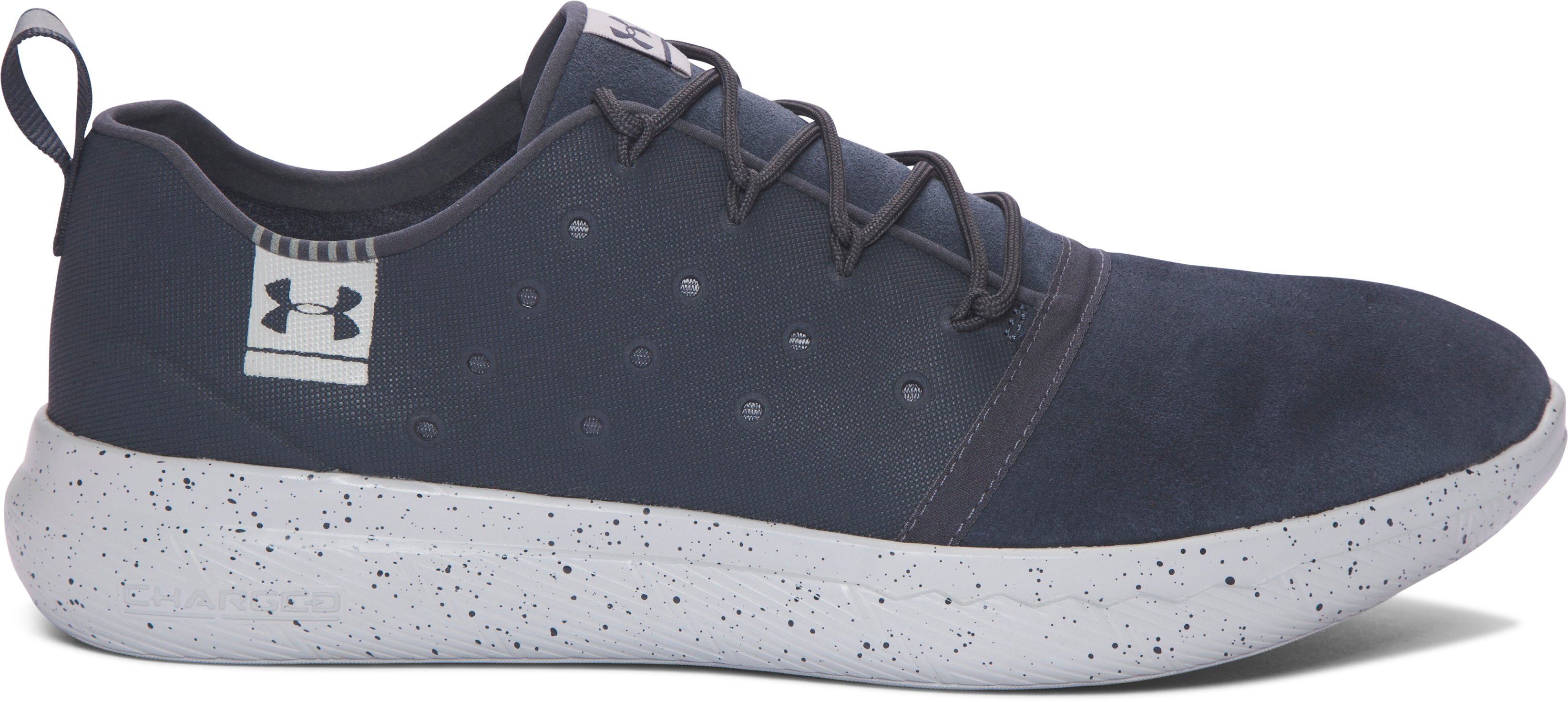 Men's UA Charged 24/7 Low Suede Shoes, STEALTH GRAY, undefined