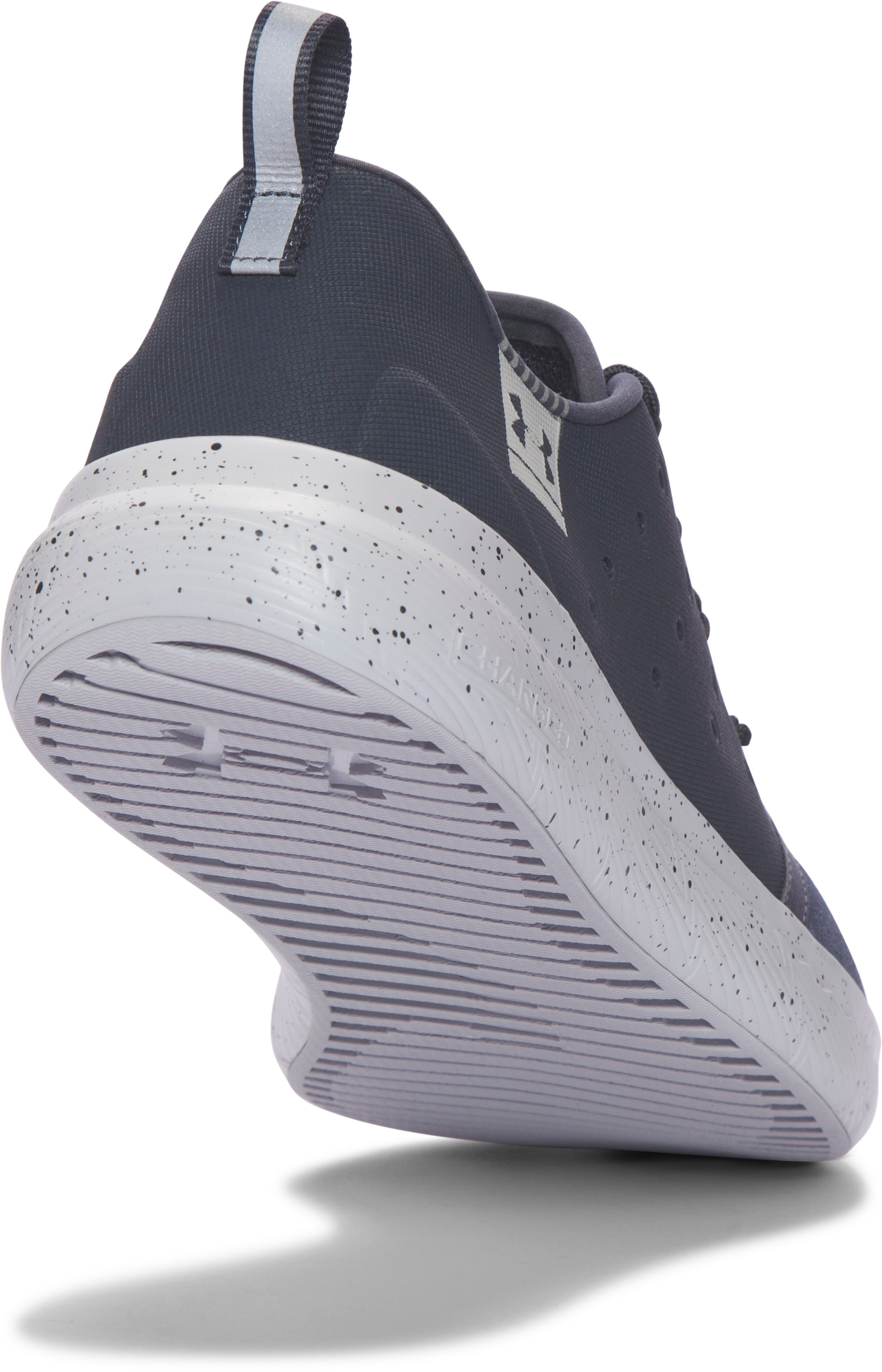 Men's UA Charged 24/7 Low Suede Shoes, STEALTH GRAY,