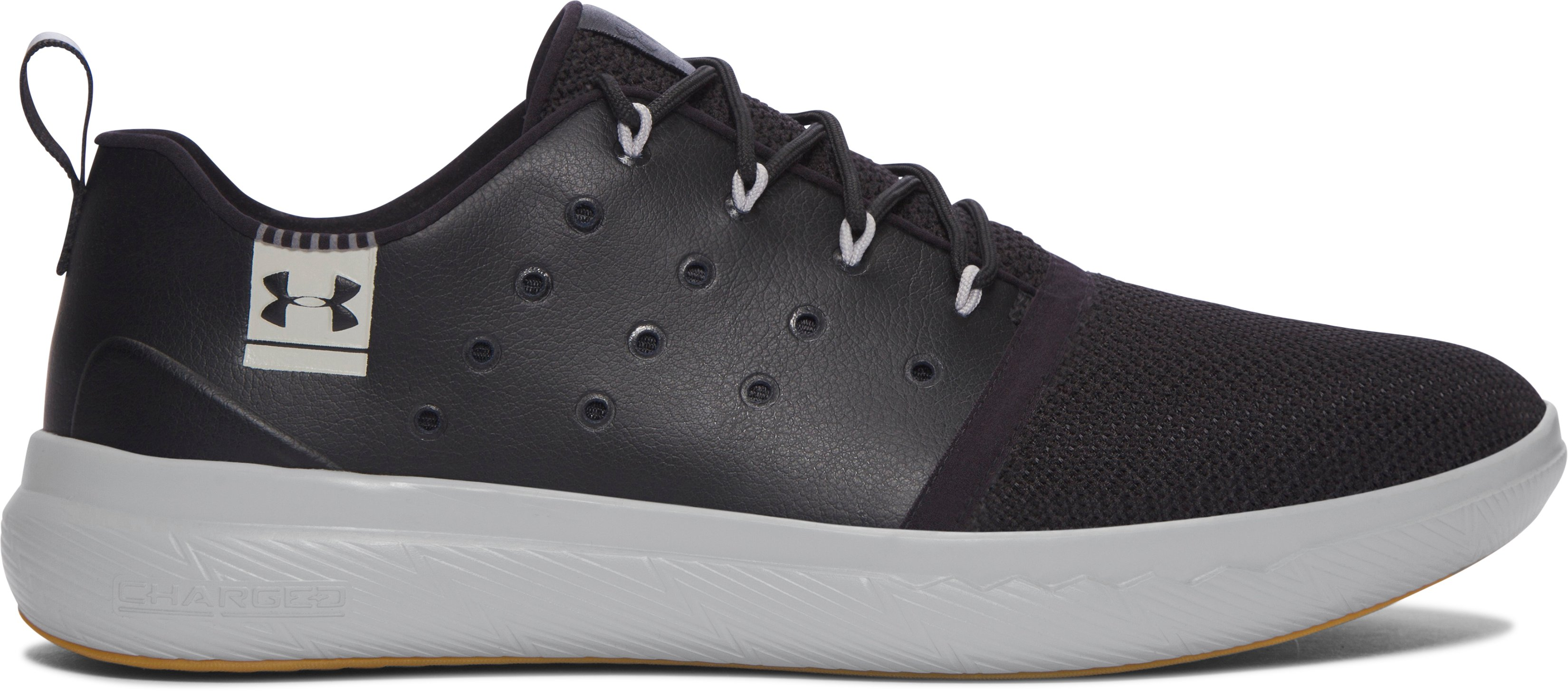 Men's UA Charged 24/7 Low Leather Shoes, Black , zoomed image