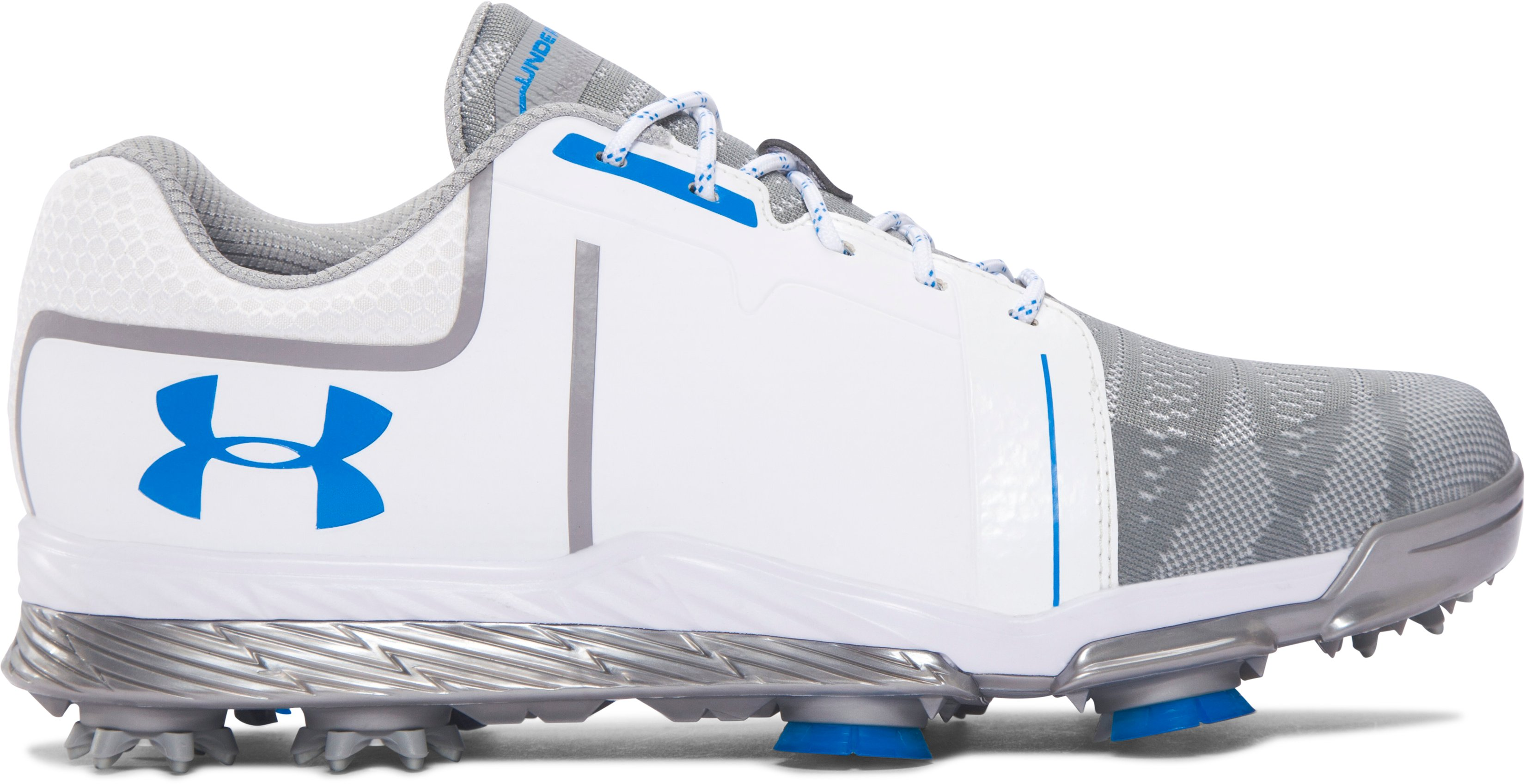 Women's UA Tempo Sport Golf Shoes, White, zoomed image