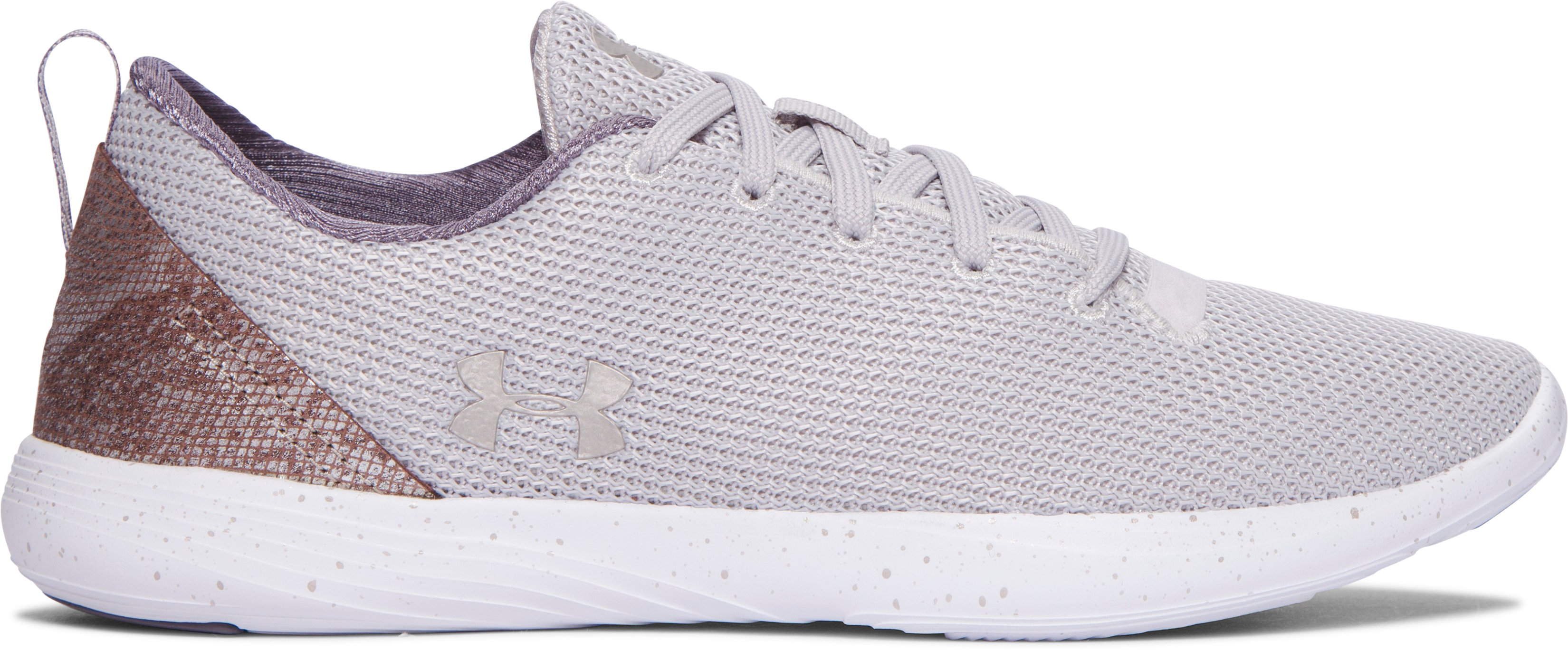 Women's UA Street Precision Sport Low Metallic Lifestyle Shoes, GRAY MATTER