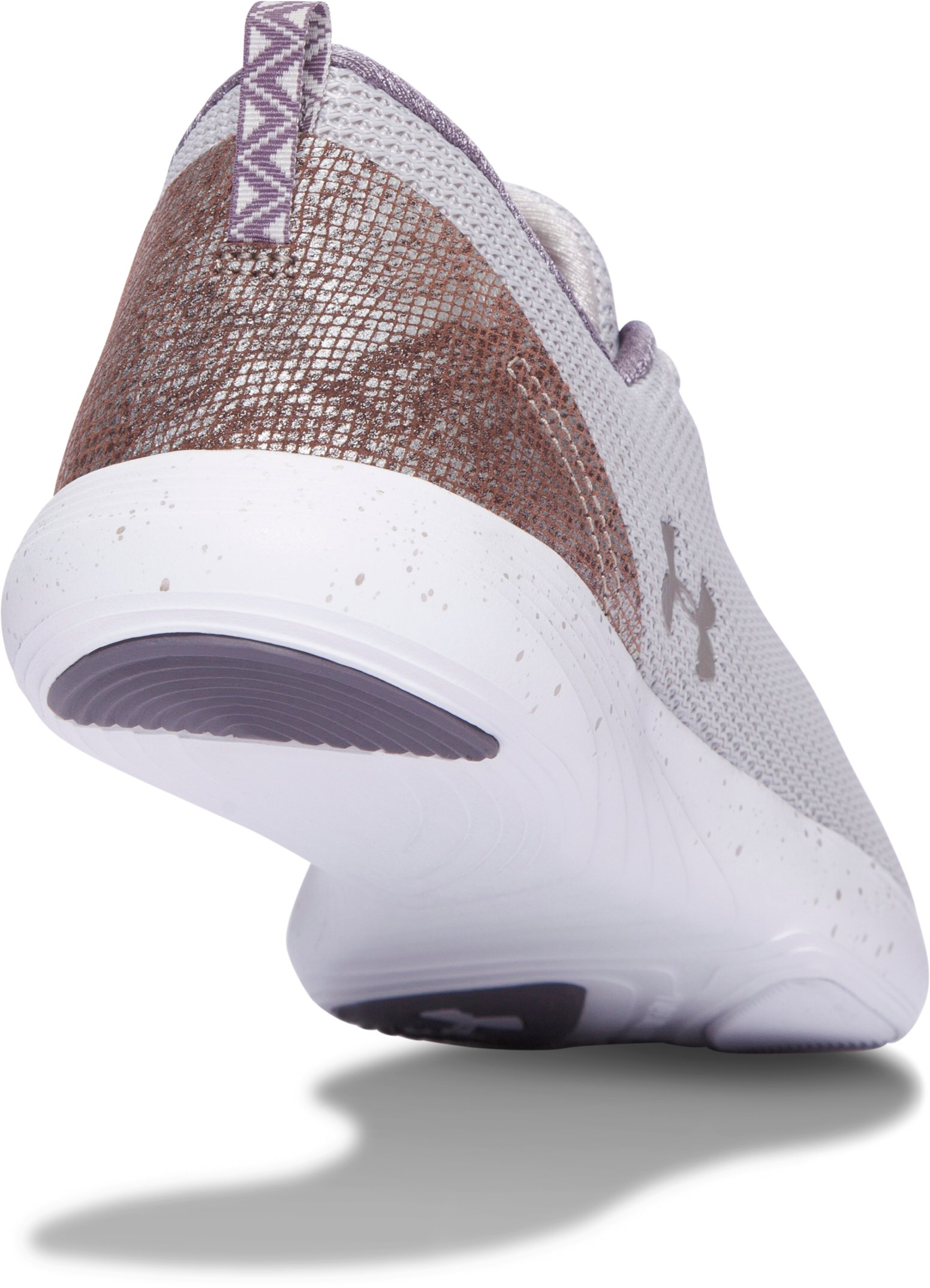 Women's UA Street Precision Sport Low Metallic Lifestyle Shoes, GRAY MATTER,