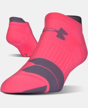 UA Run Cushion No Show Socks  2 Colors $9.99