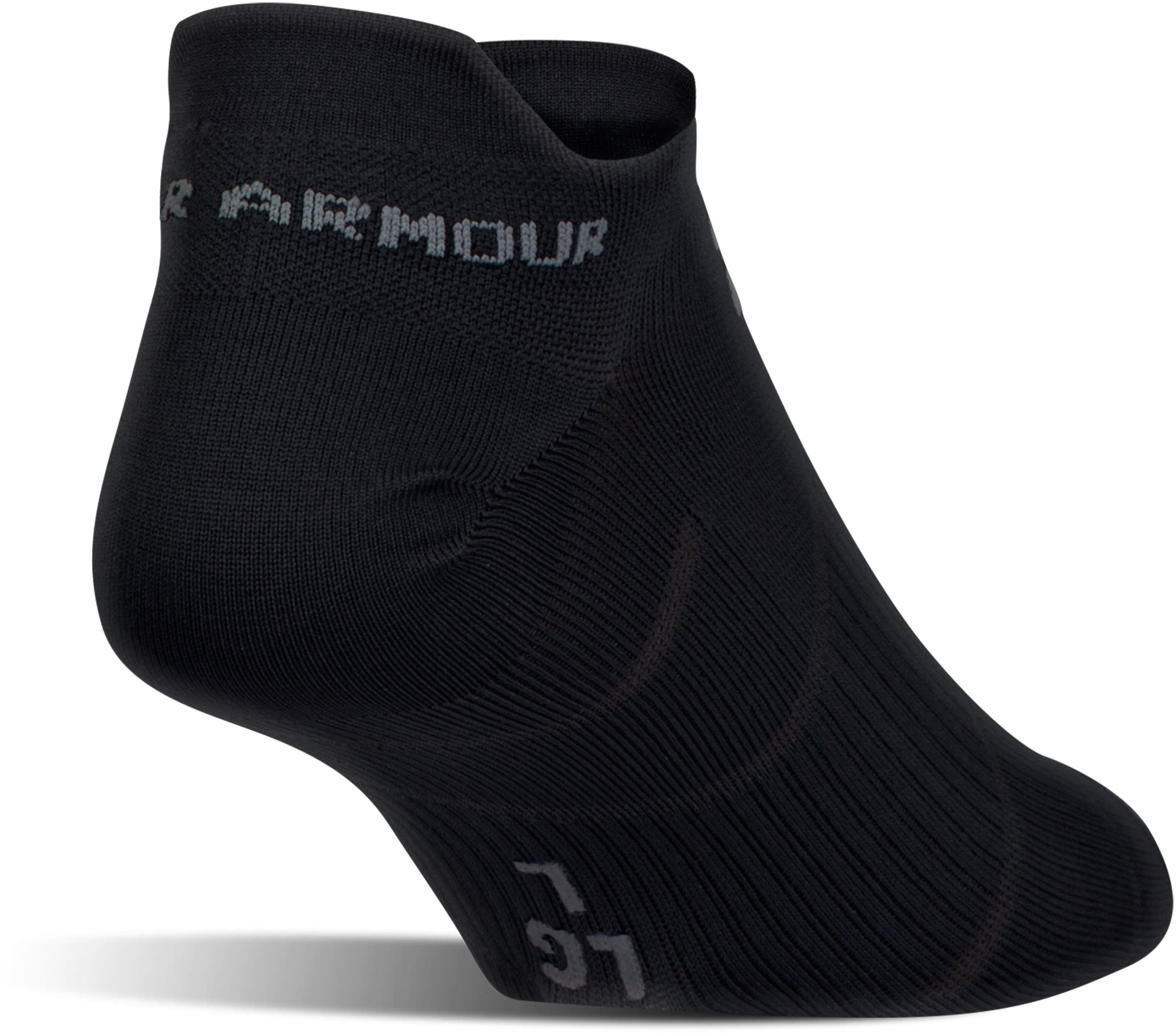 Men's UA Run Fast Double Tab Socks, Black , undefined