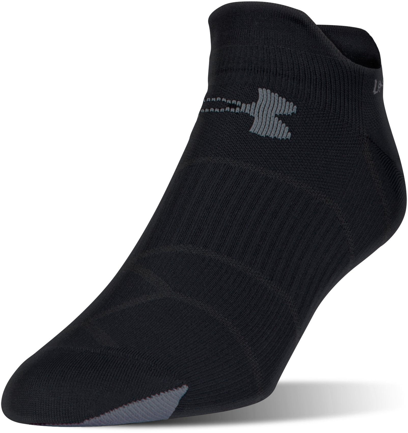 Men's UA Run Fast Double Tab Socks, Black