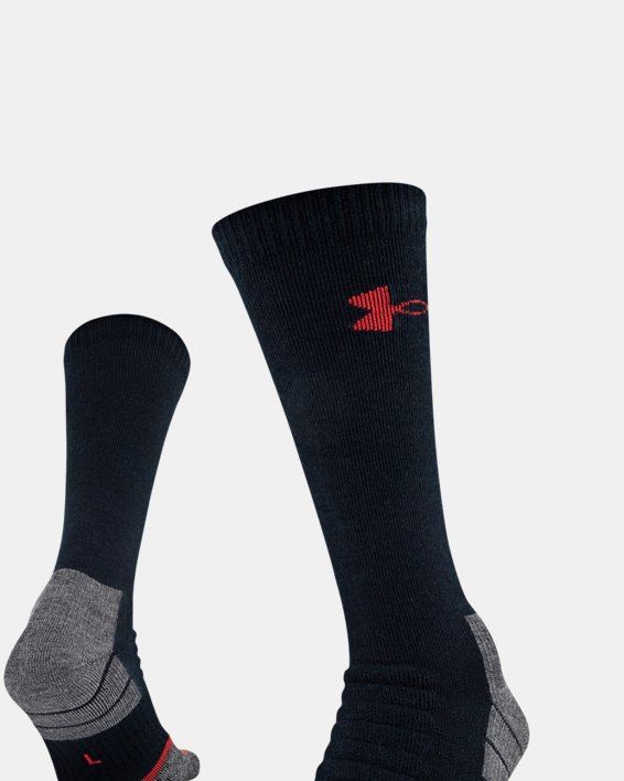 UA All Season Wool Boot Socks, Black, pdpMainDesktop image number 4