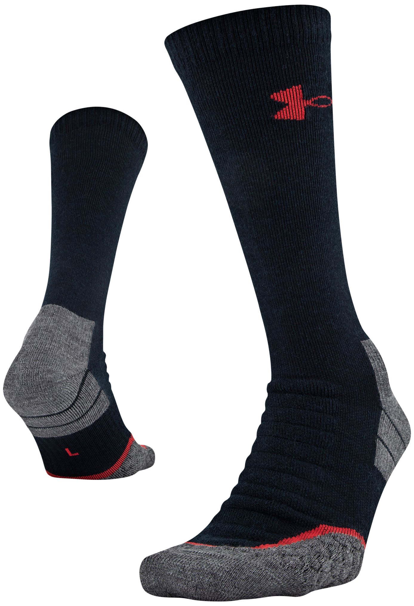 UA All Season Wool Boot Socks, Black , zoomed