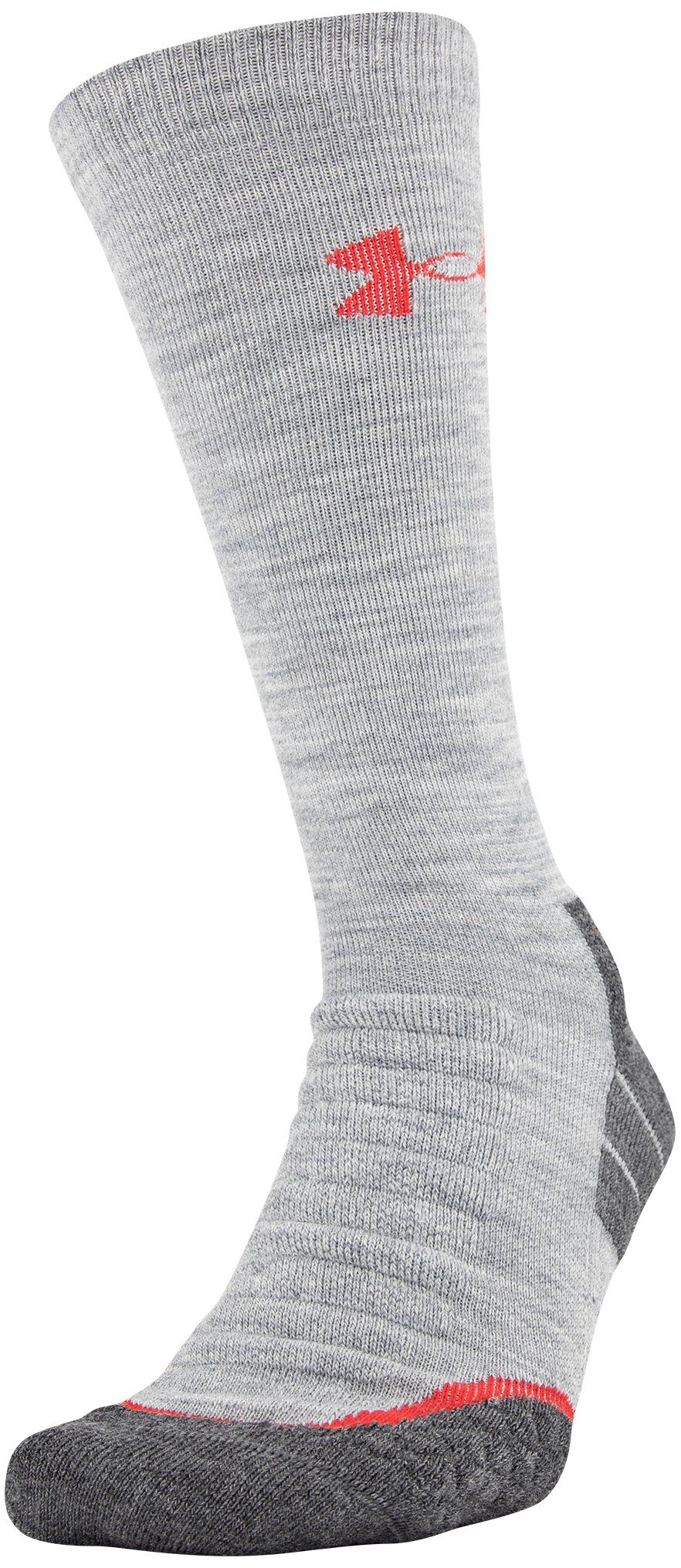 UA All Season Wool Boot Socks, True Gray Heather, zoomed