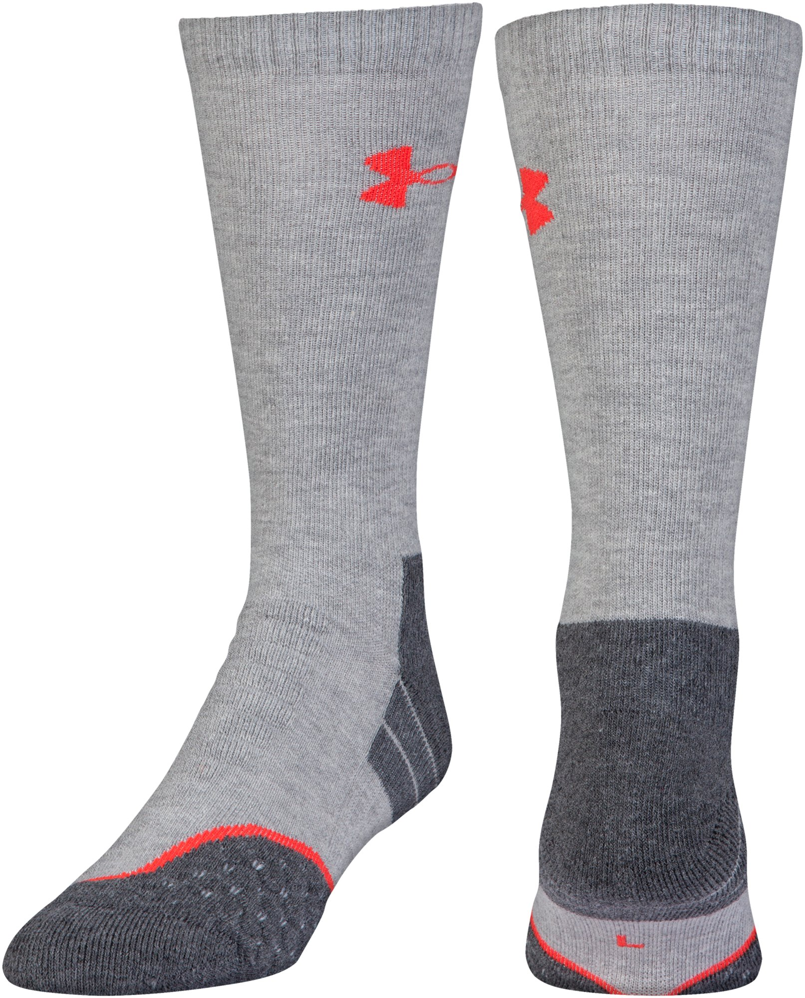 UA All Season Wool Boot Socks, True Gray Heather,