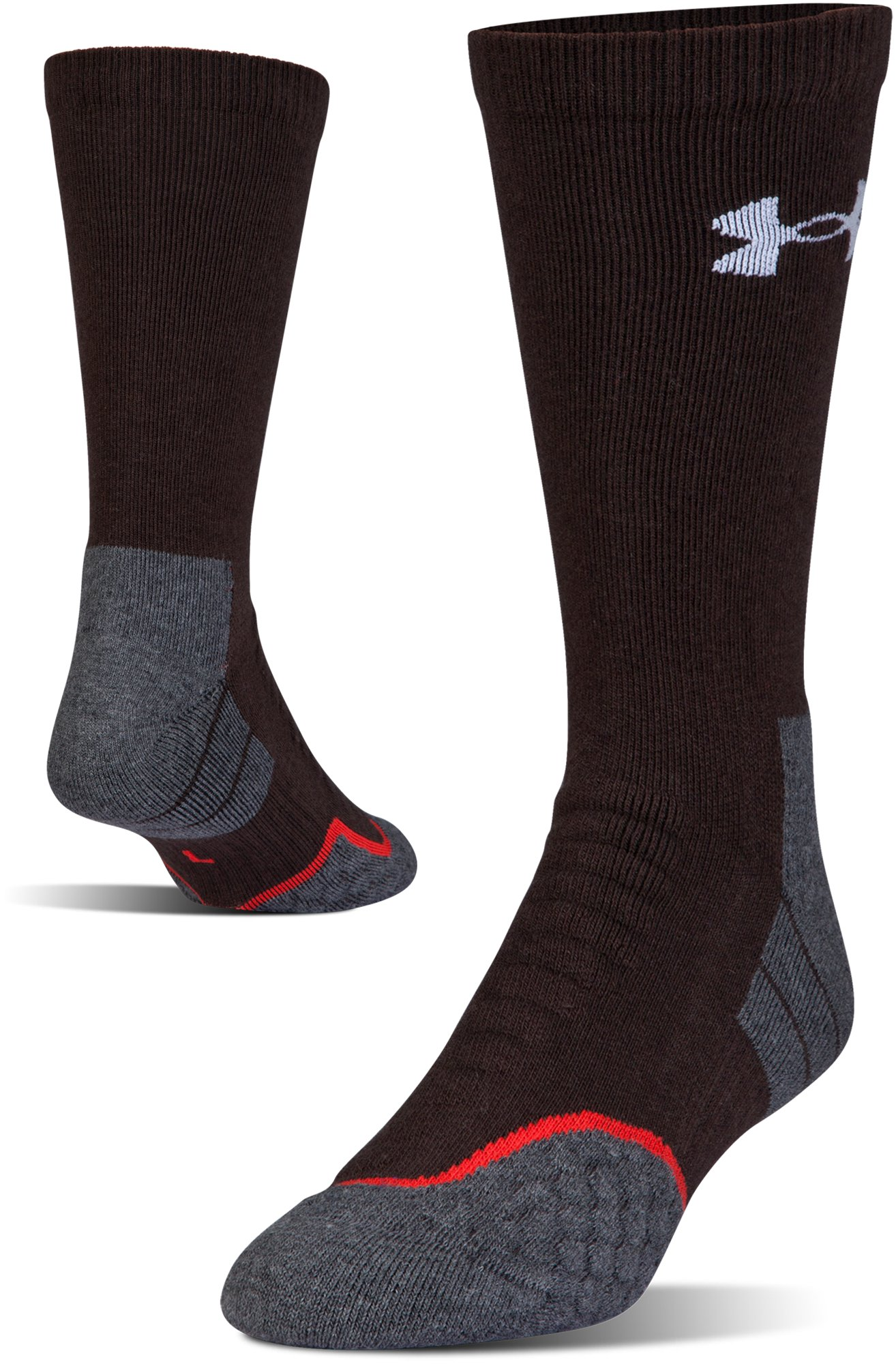 UA All Season Wool Boot Socks, MAVERICK BROWN, zoomed