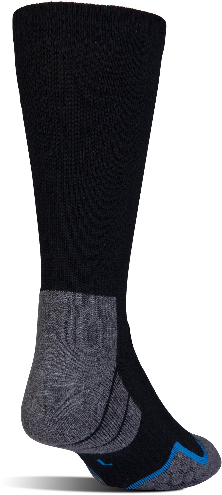 Men's UA All Season Cool Boot Socks, Black ,